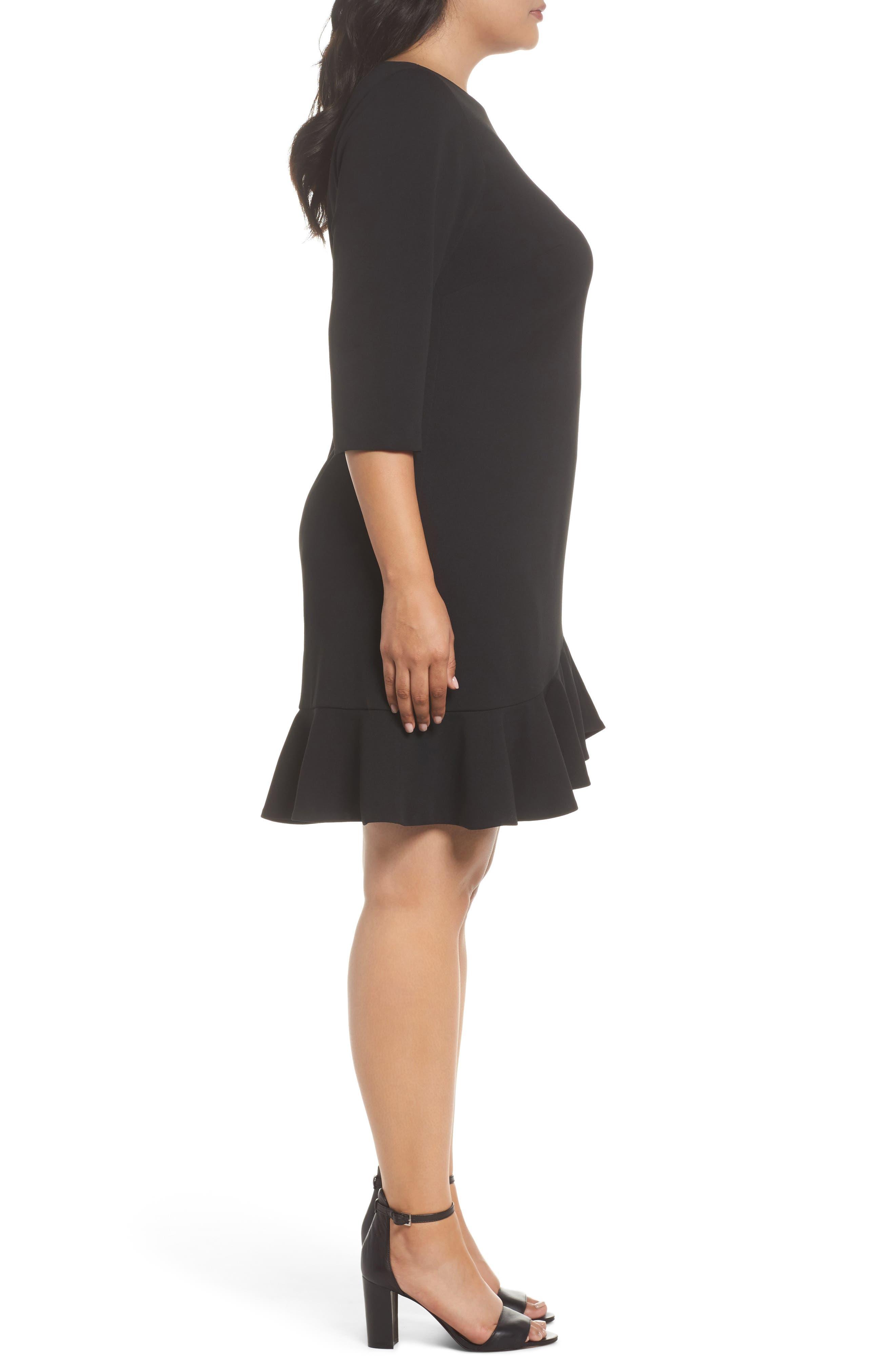 Alternate Image 3  - Vince Camuto Scuba Crepe Sheath Dress (Plus Size)