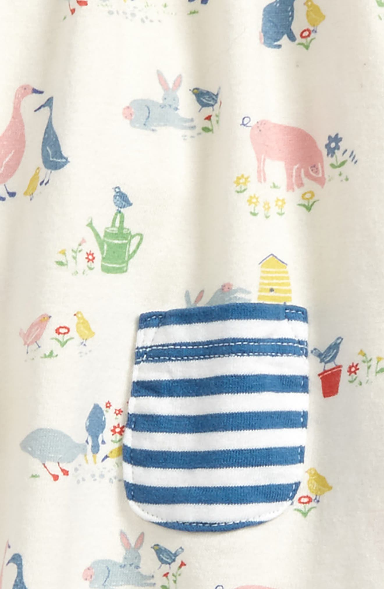 Alternate Image 2  - Mini Boden Jersey Tunic & Leggings Set (Baby Girls & Toddler Girls)