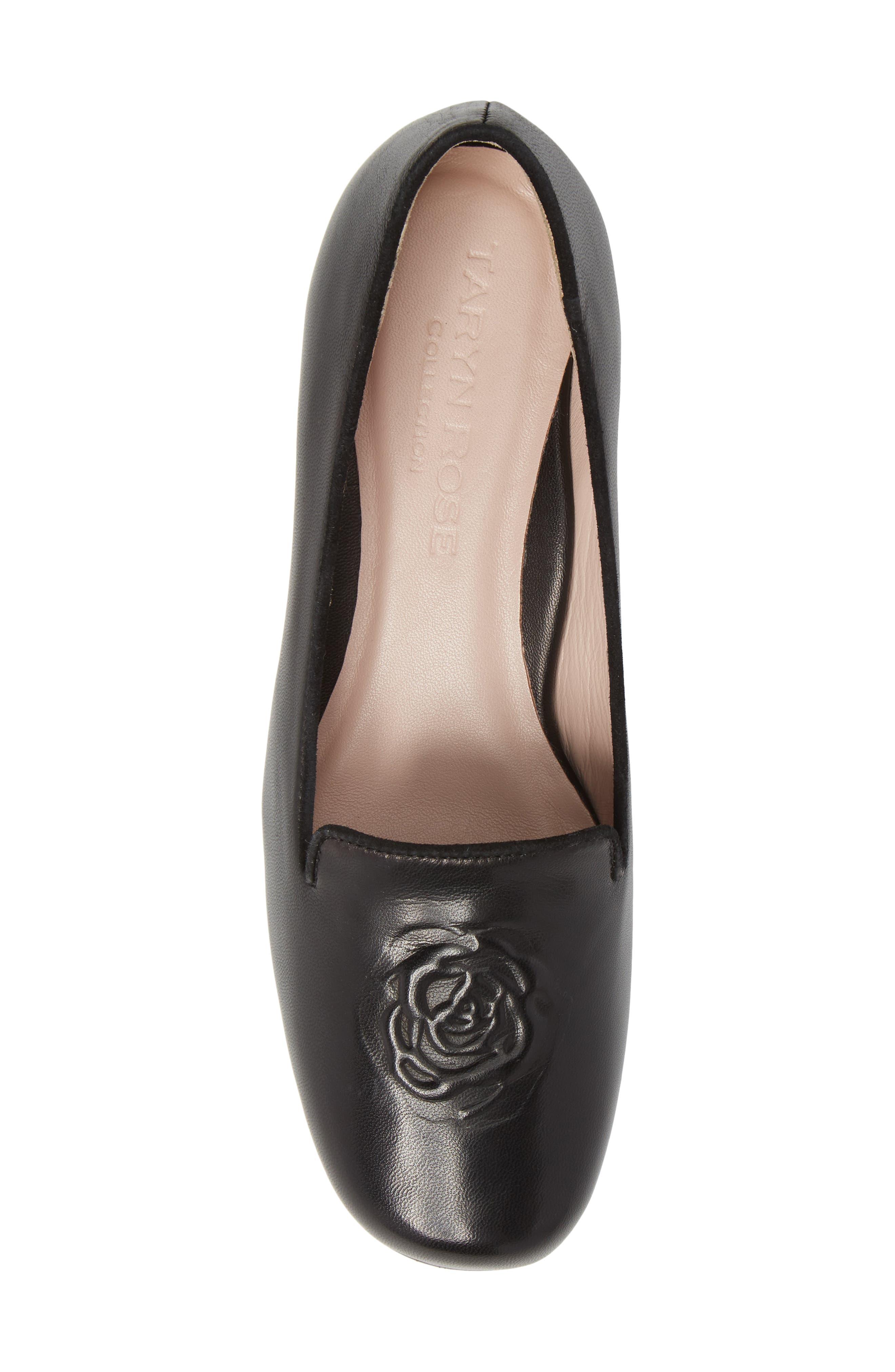 Taryn Rose Belissa Loafer,                             Alternate thumbnail 5, color,                             Black Leather