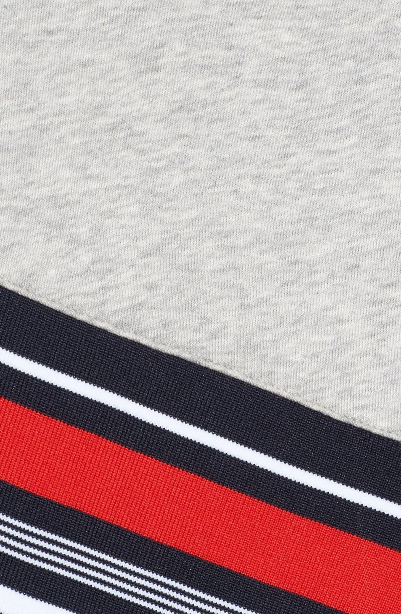 x Gigi Hadid Racing Sweatshirt Dress,                             Alternate thumbnail 5, color,                             Midnight/ Hthr