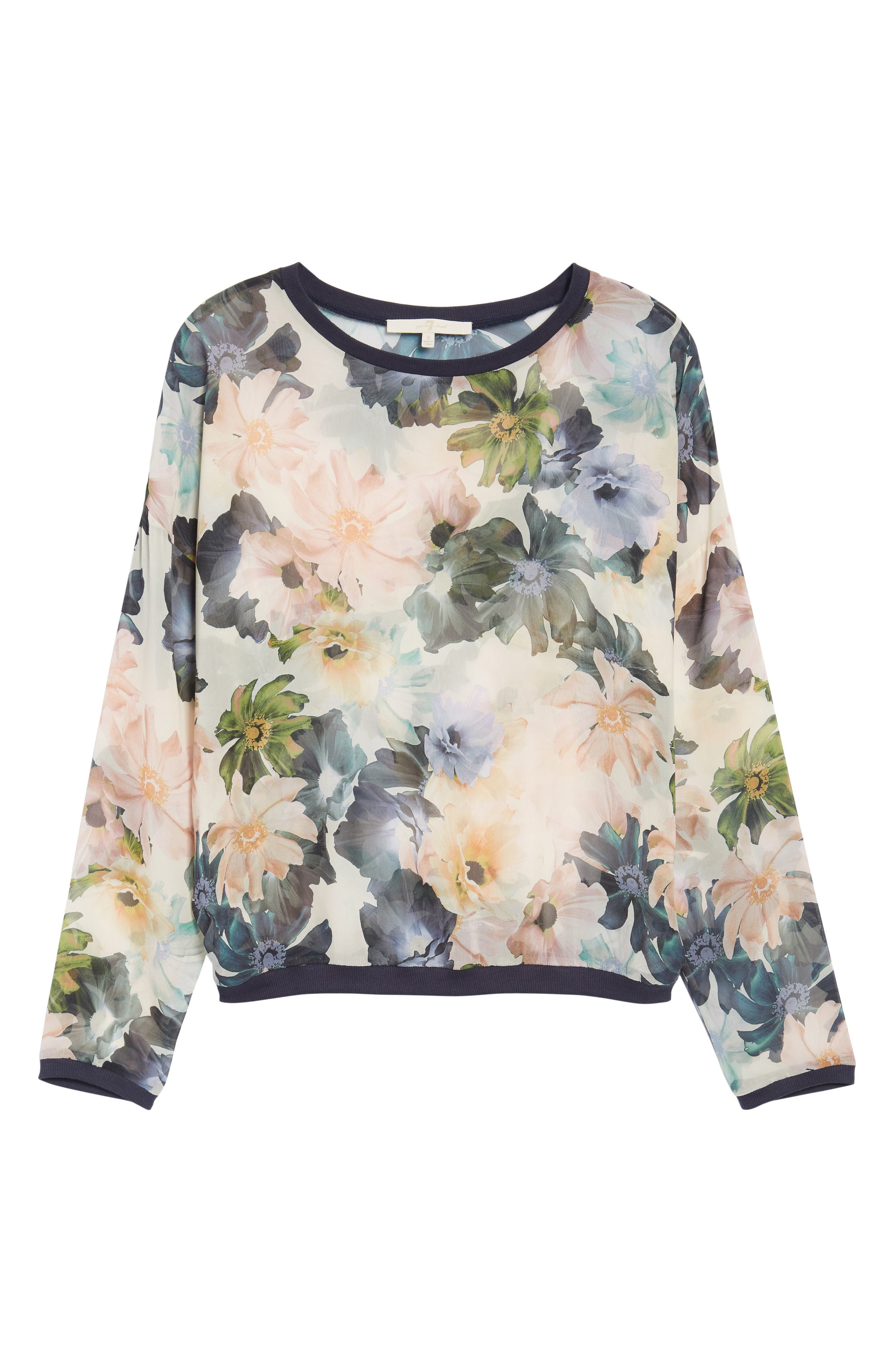 Georgette Sweatshirt,                             Alternate thumbnail 6, color,                             Desert Garden Print