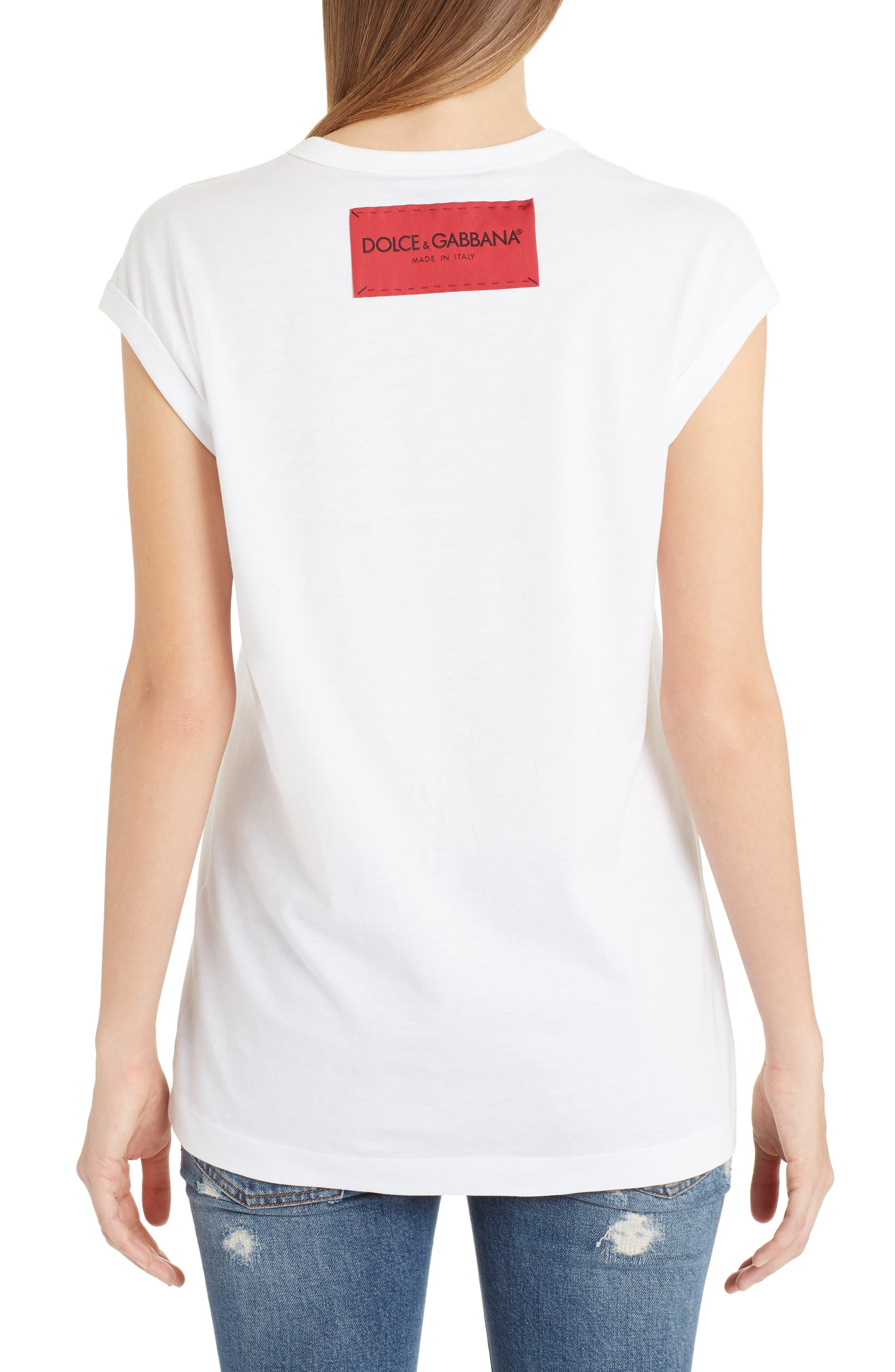 Amore Graphic Tank Top,                             Alternate thumbnail 2, color,                             White