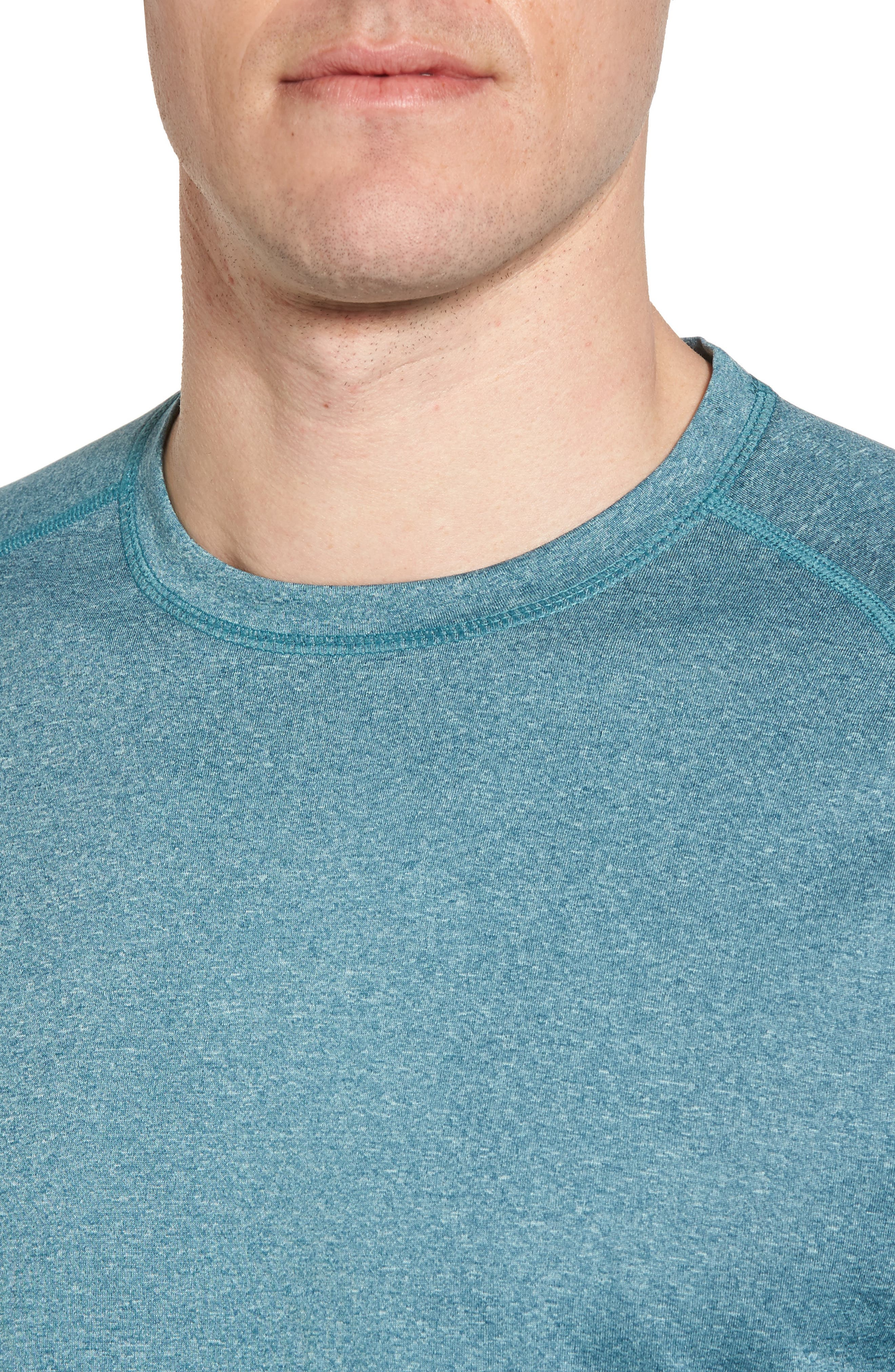 Jordanite Crewneck T-Shirt,                             Alternate thumbnail 4, color,                             Teal Tourmaline Melange