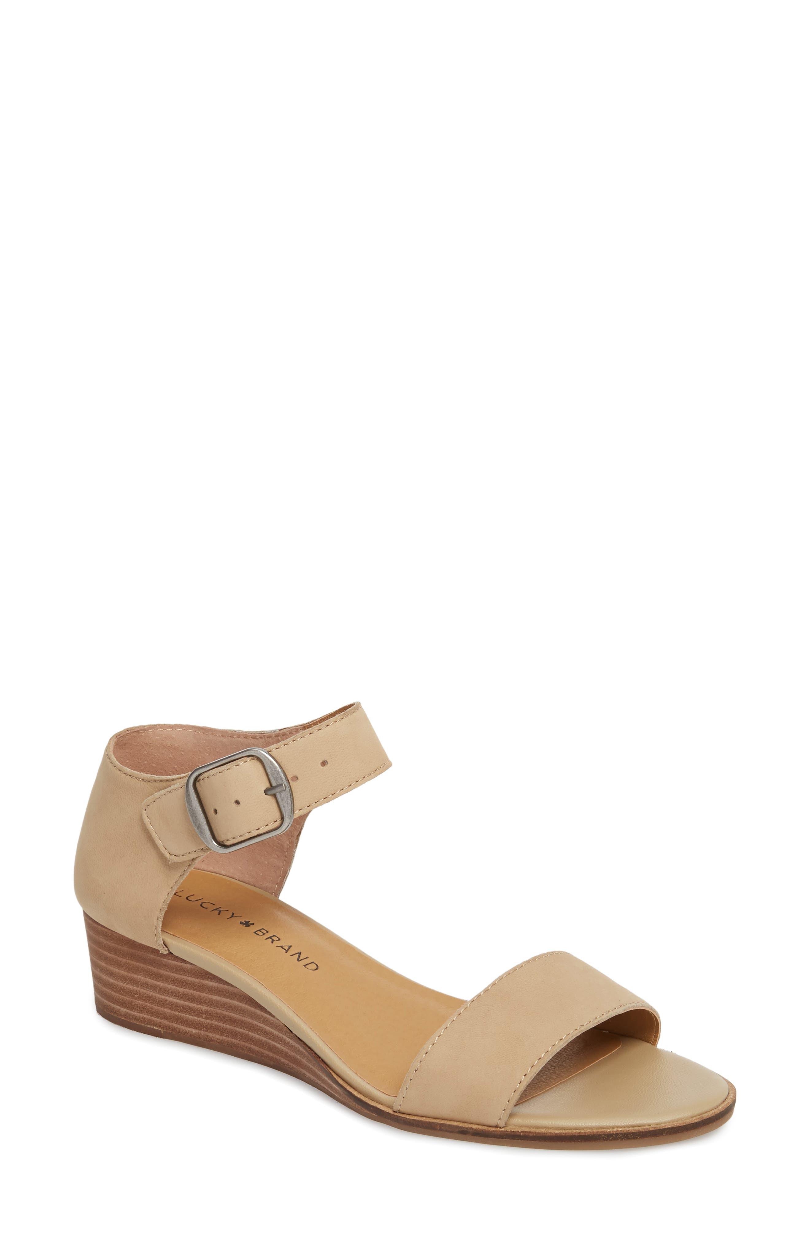 Riamsee Sandal,                         Main,                         color, Travertine Nubuck