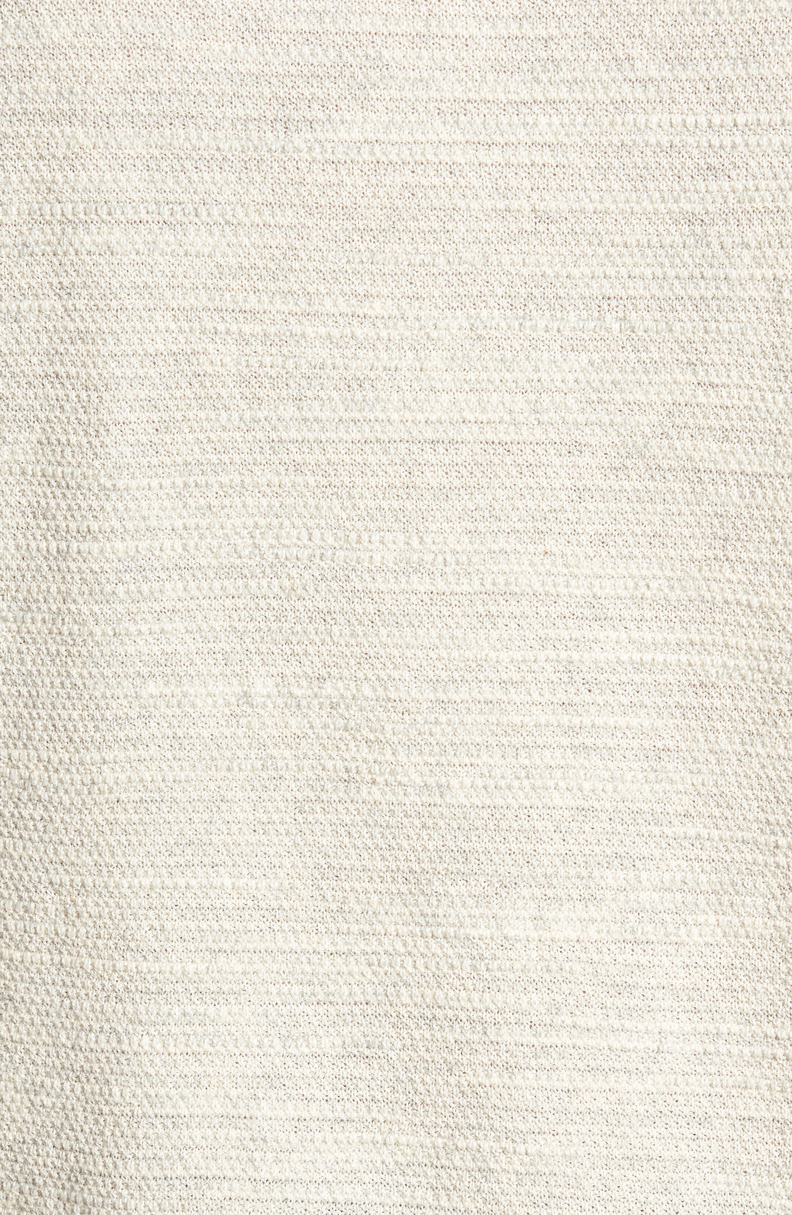 Slub Thermal Knit Sweater,                             Alternate thumbnail 5, color,                             Cream Heather