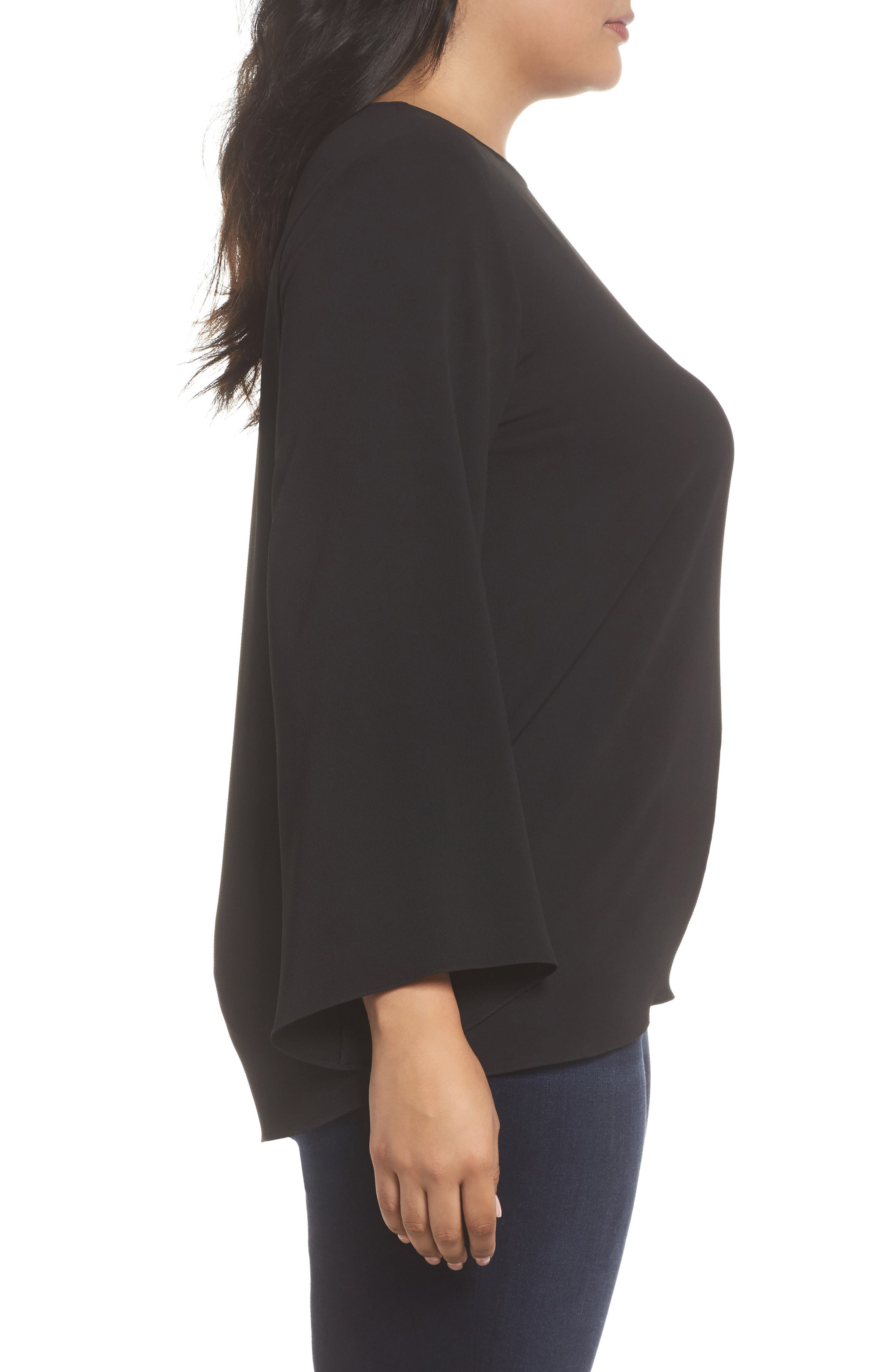 Alternate Image 3  - Vince Camuto Drawstring Side Blouse (Plus Size)