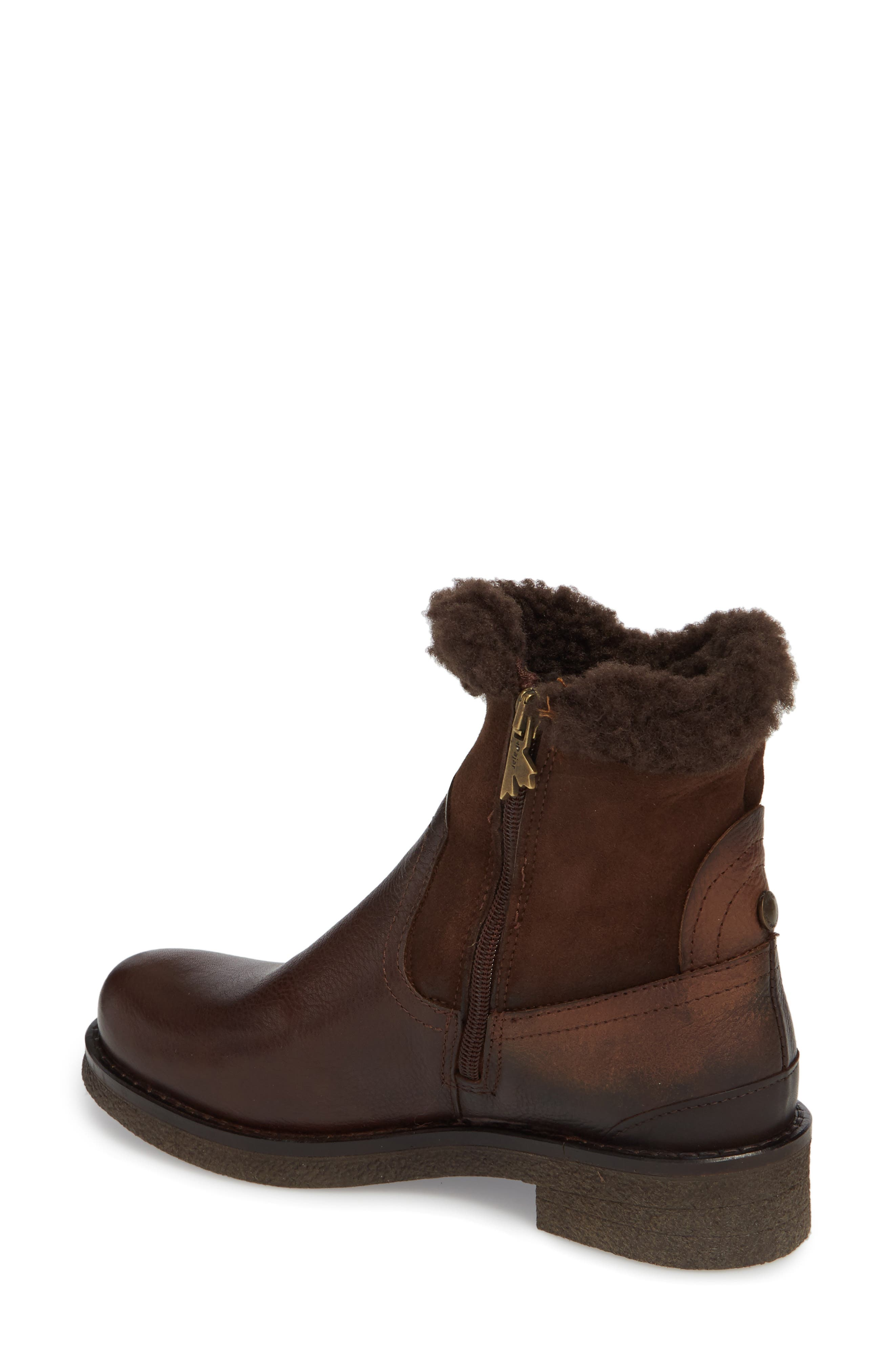Odessa Waterproof Insulated Snow Boot,                             Alternate thumbnail 2, color,                             Brown Fur Leather