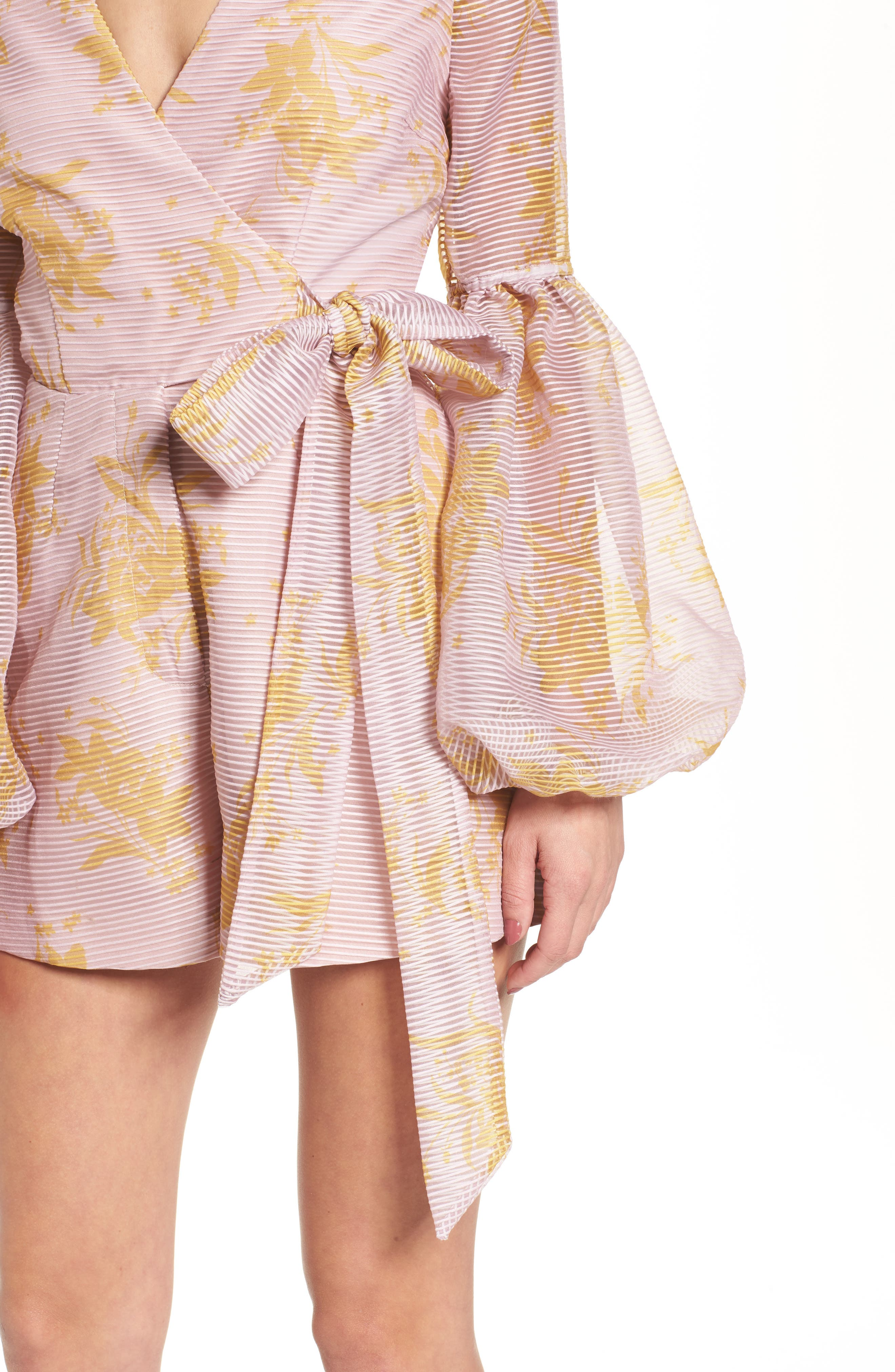 Stand Tall Romper,                             Alternate thumbnail 4, color,                             Blush Stencil Floral