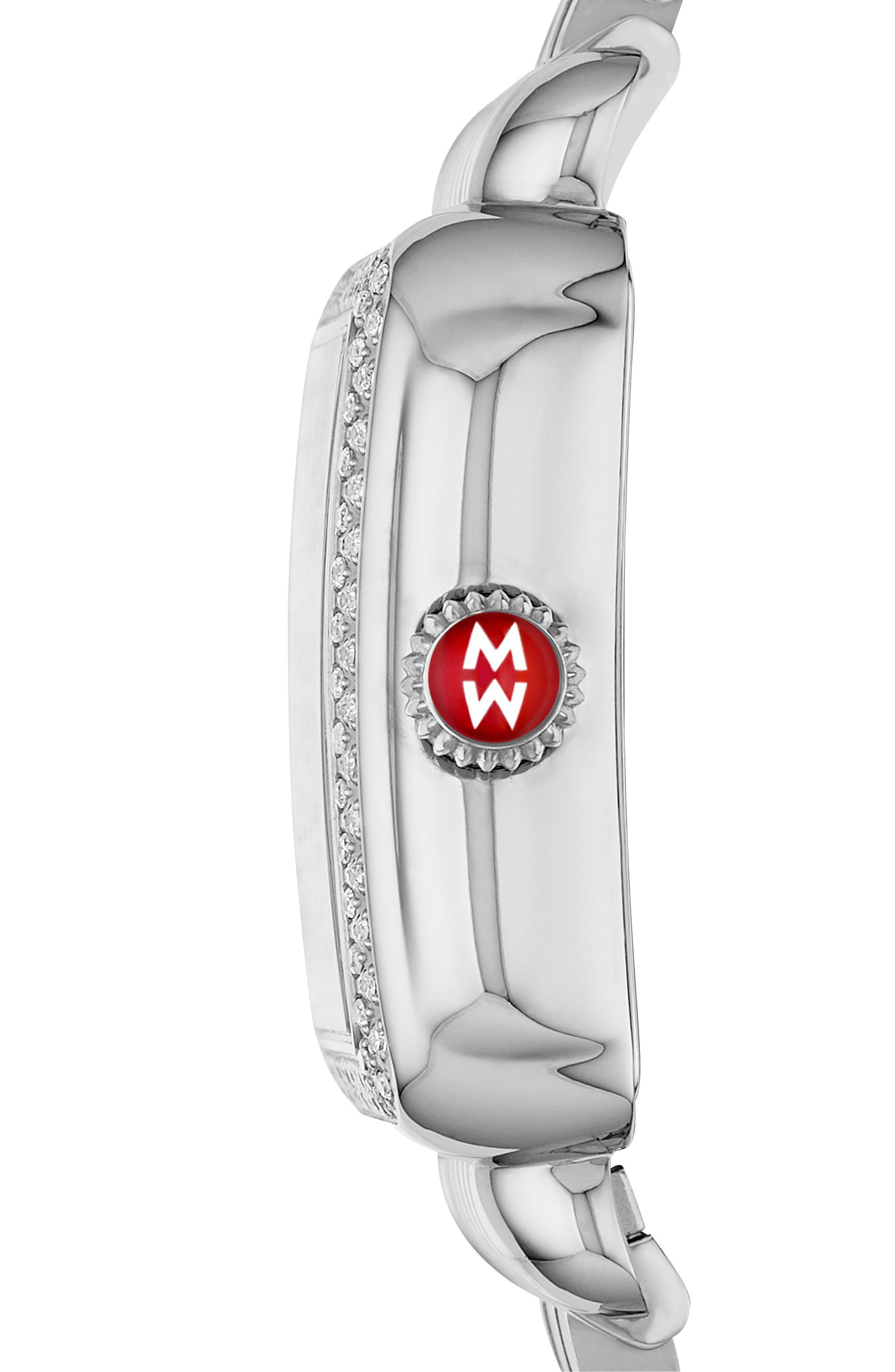 Deco Madison Champagne Diamond Watch Head, 33mm x 35mm,                             Alternate thumbnail 2, color,                             Silver/ Champagne