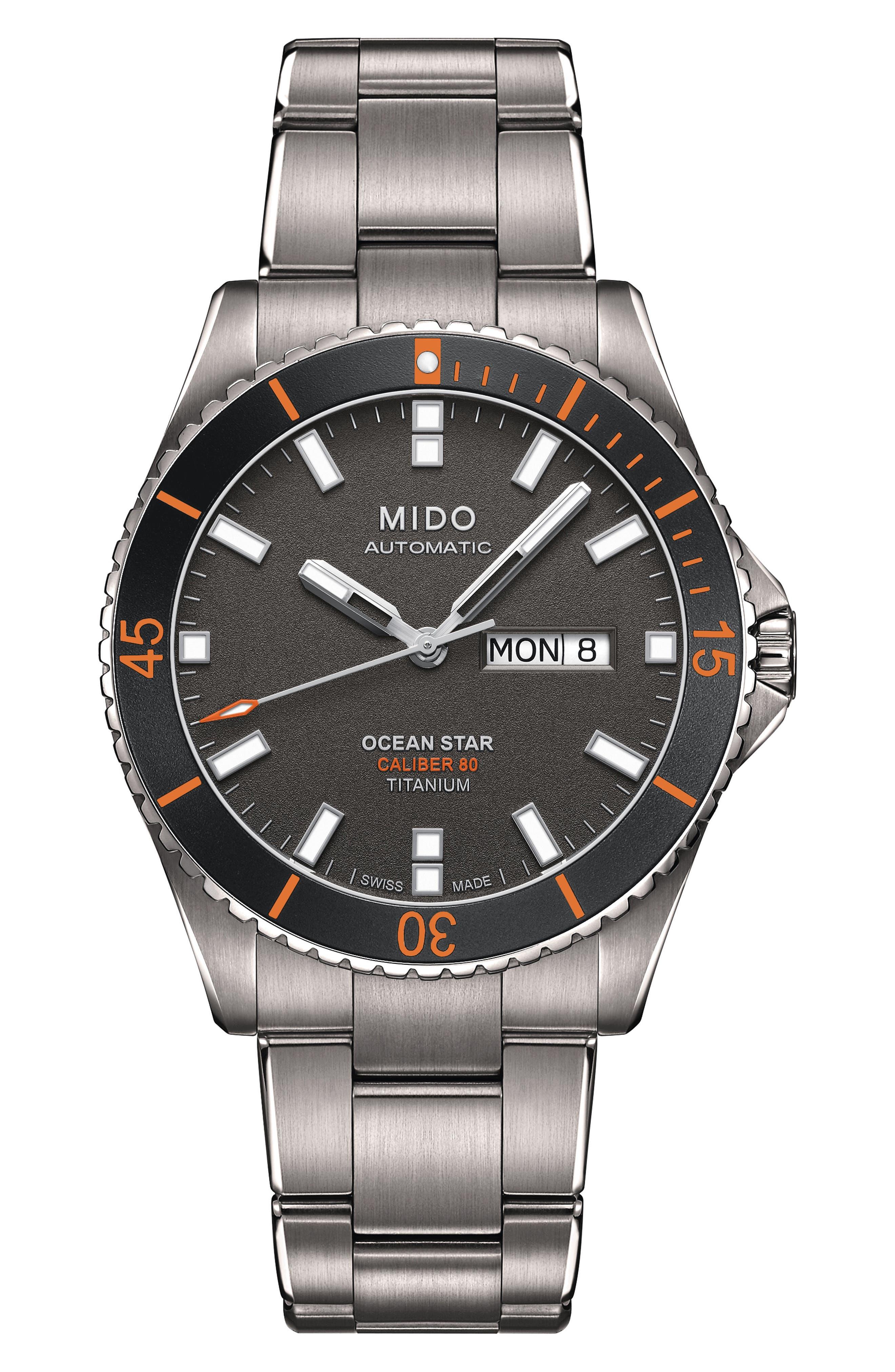 Ocean Star Diver Bracelet Watch, 42mm,                             Main thumbnail 1, color,                             Grey