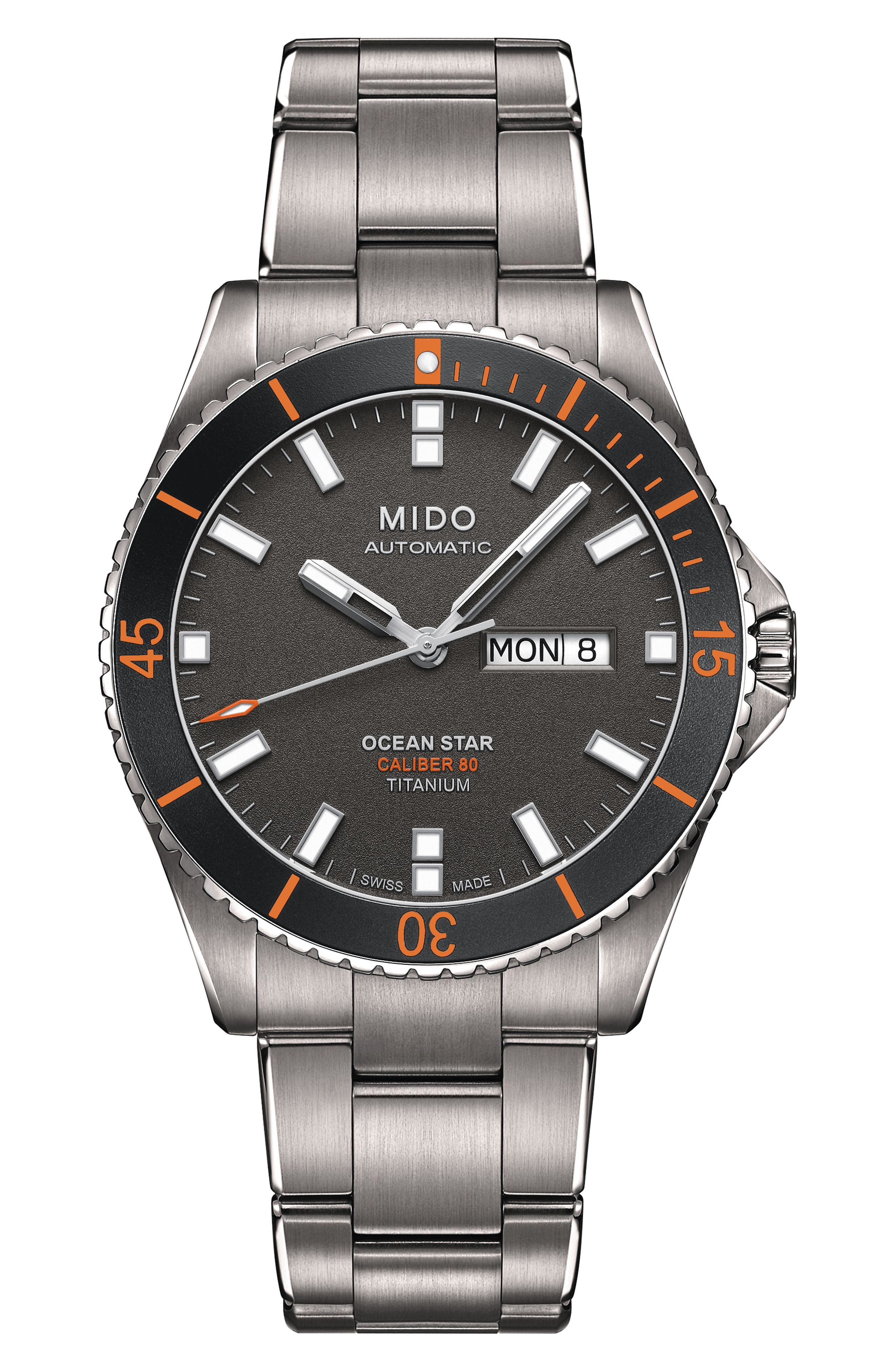 Ocean Star Diver Bracelet Watch, 42mm,                         Main,                         color, Grey