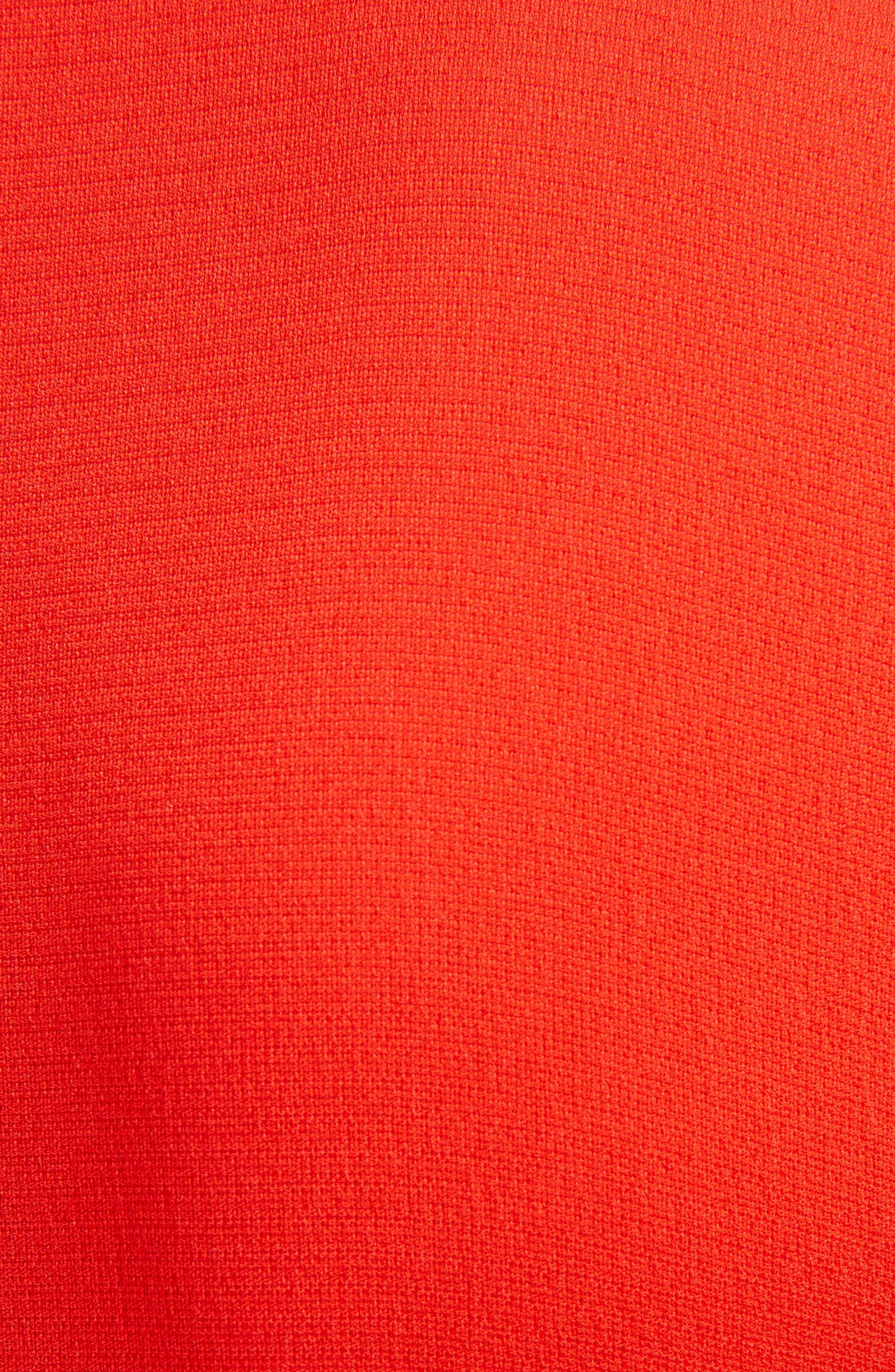 Twist Waist Silk Dress,                             Alternate thumbnail 3, color,                             Bright Red