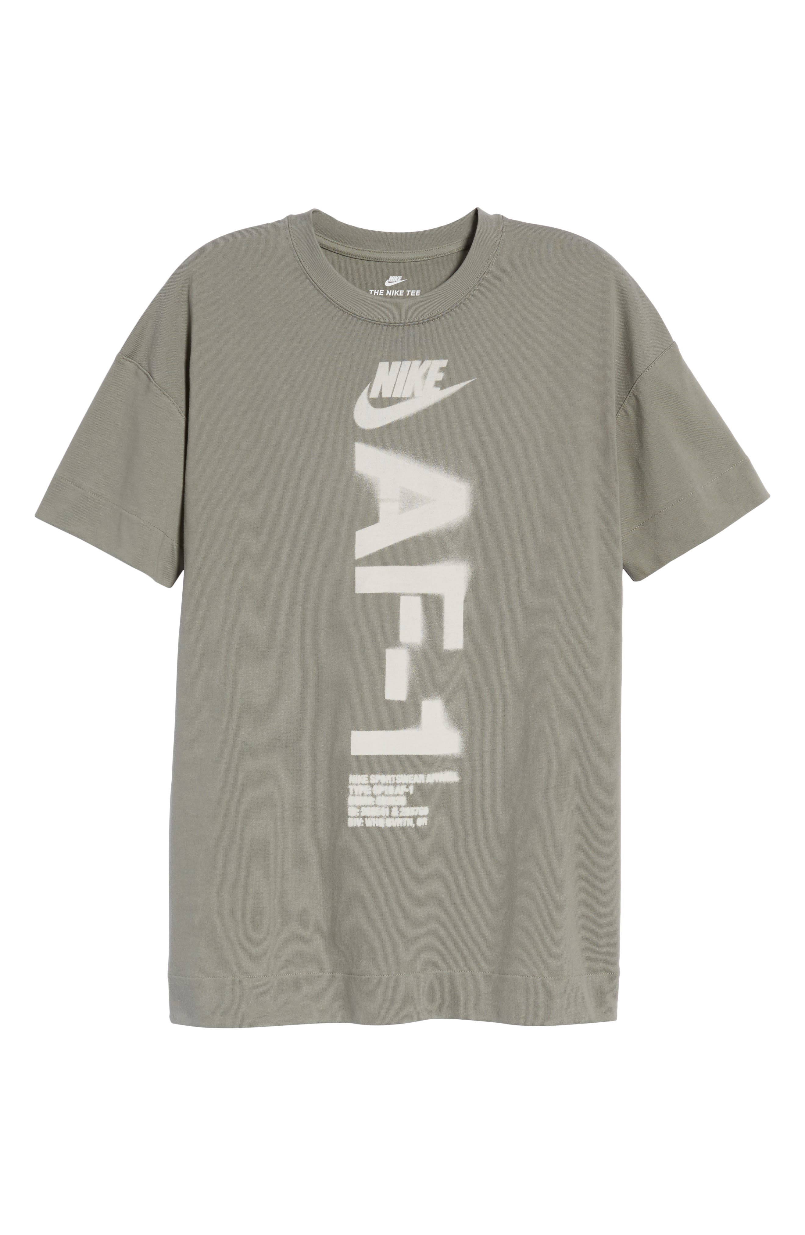 NSW Heavyweight AF-1 T-Shirt,                             Alternate thumbnail 6, color,                             Neutral Olive/ Medium Olive