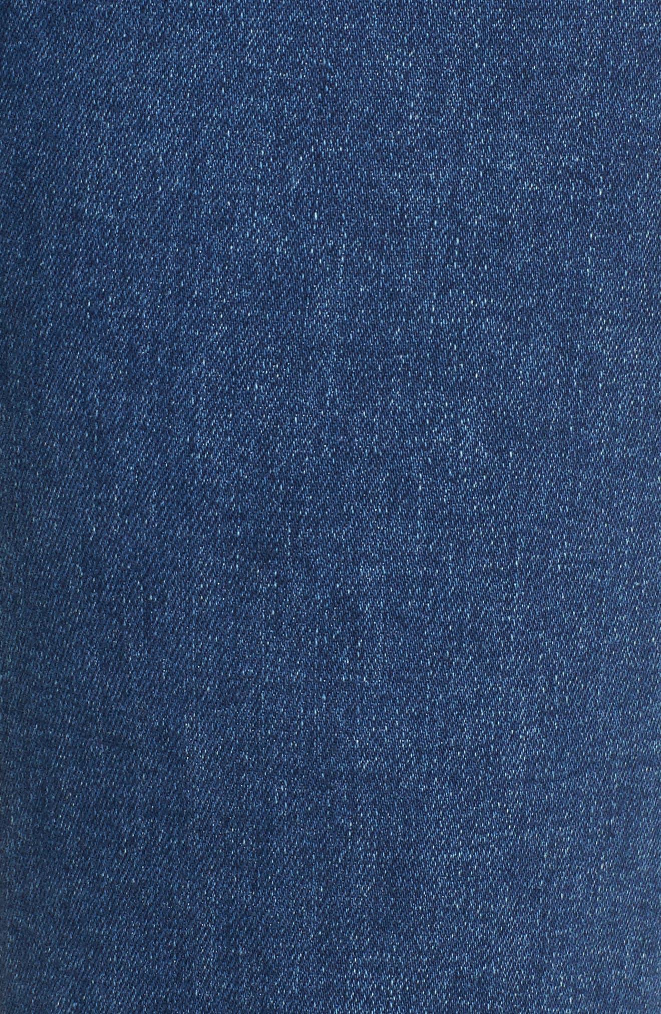 Alternate Image 5  - Jen7 Pearl Embellished Straight Cropped Jeans