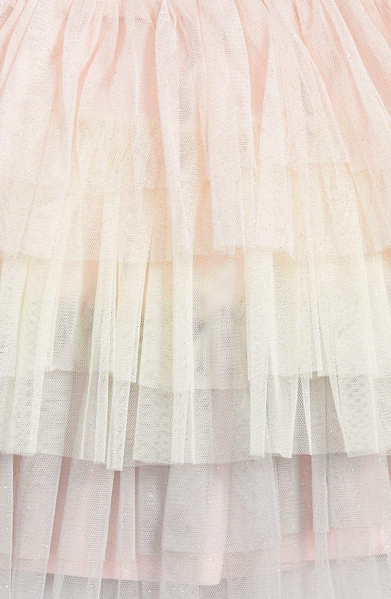 Tiered Tutu Skirt,                             Alternate thumbnail 3, color,                             Pink Multi