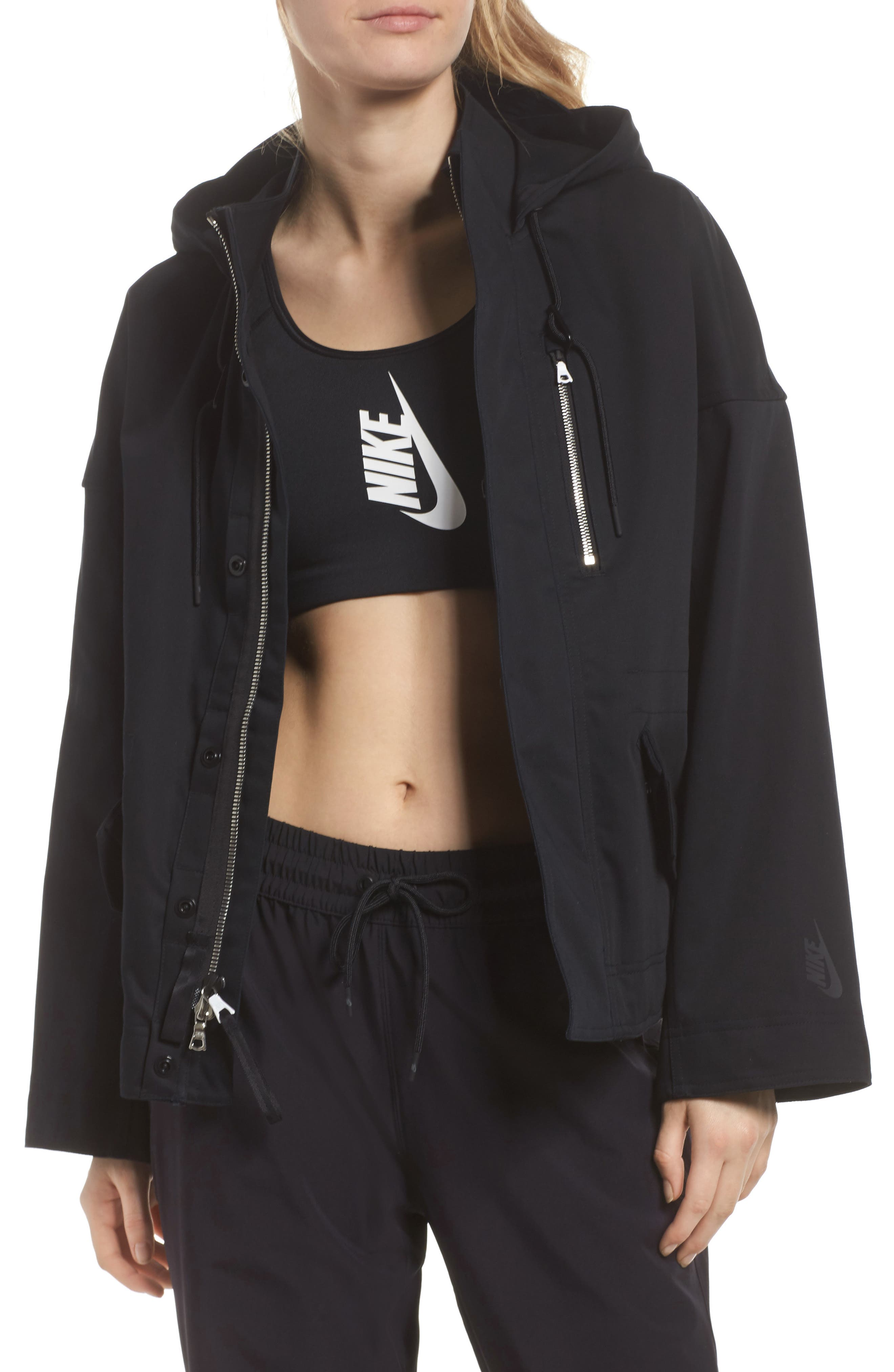 NikeLab Collection Women's Tactical Jacket,                             Main thumbnail 1, color,                             Black/ Black