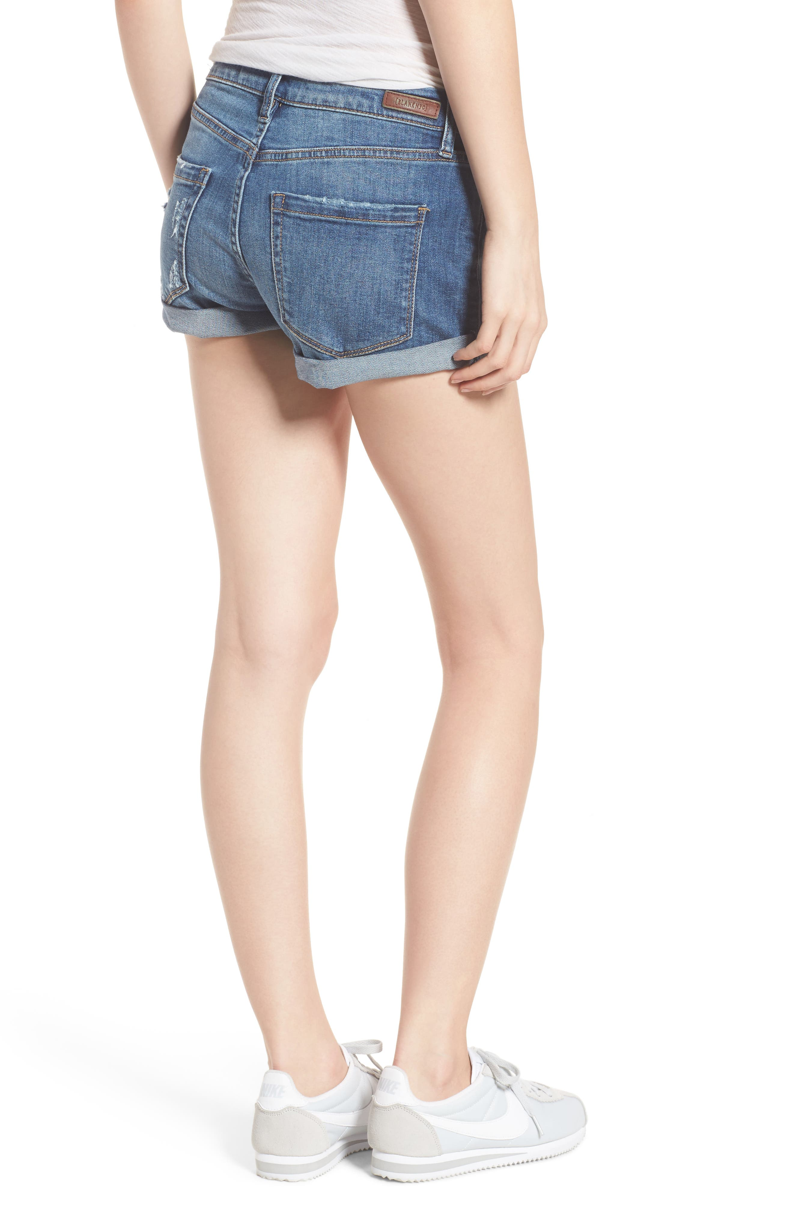 Plalay Hard Cuffed Jean Shorts,                             Alternate thumbnail 2, color,                             Blue