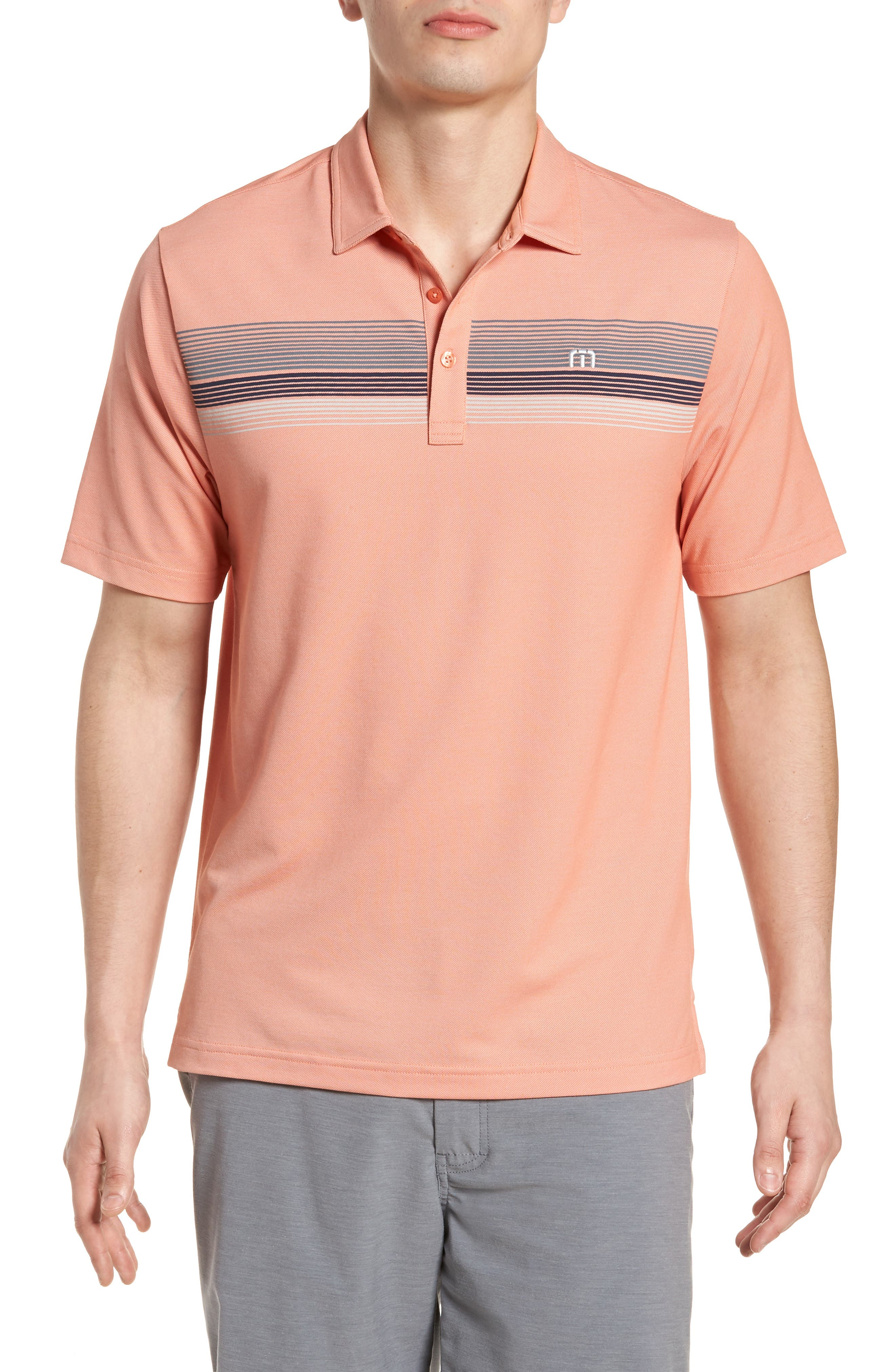 Happy Jelly Regular Fit Polo,                         Main,                         color, Flamingo/ Micro Chip