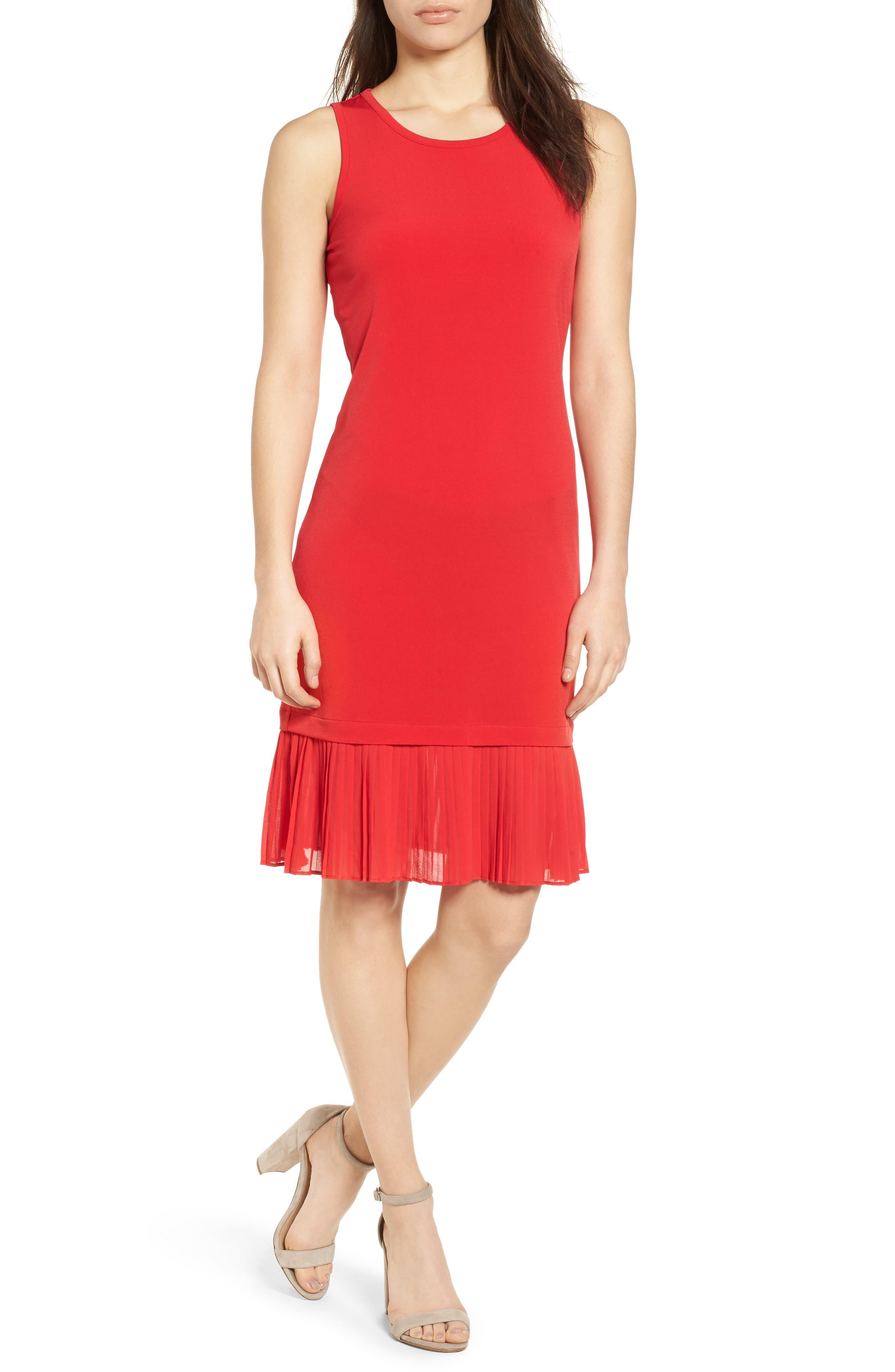 Cheap red tank dress
