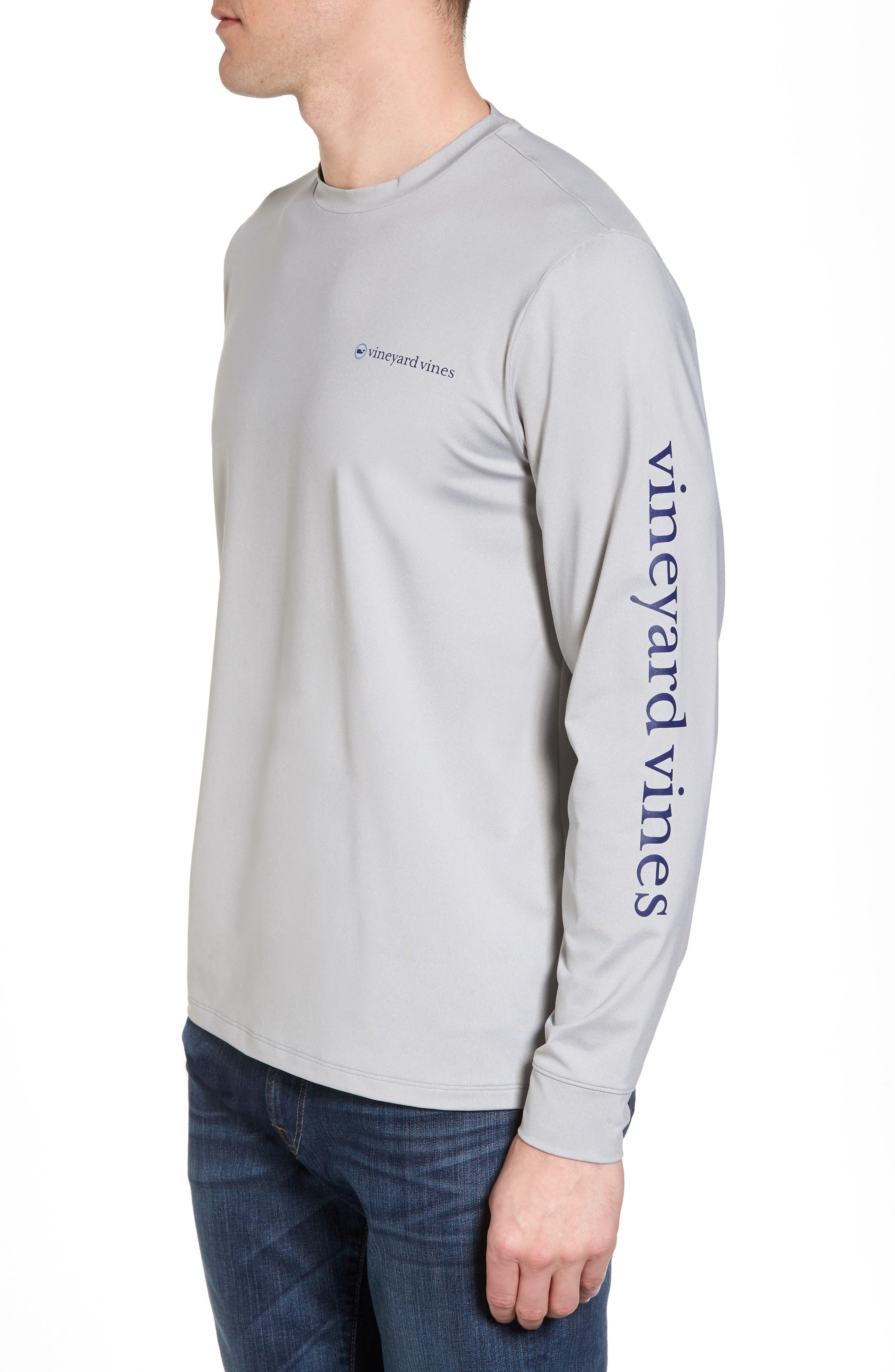 Heathered Long Sleeve Performance T-Shirt,                             Alternate thumbnail 3, color,                             Gray Heather