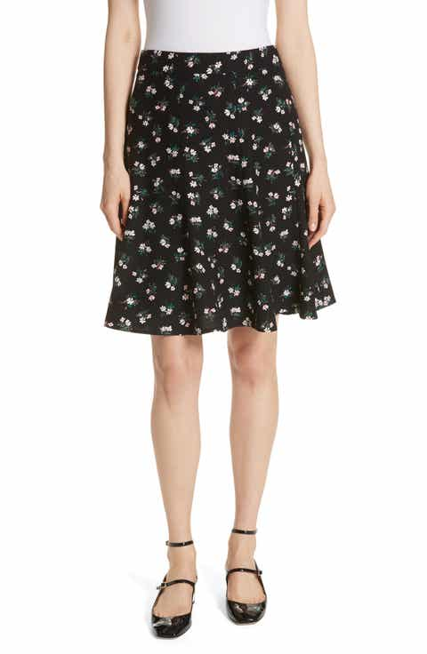 kate spade new york floral crepe skirt
