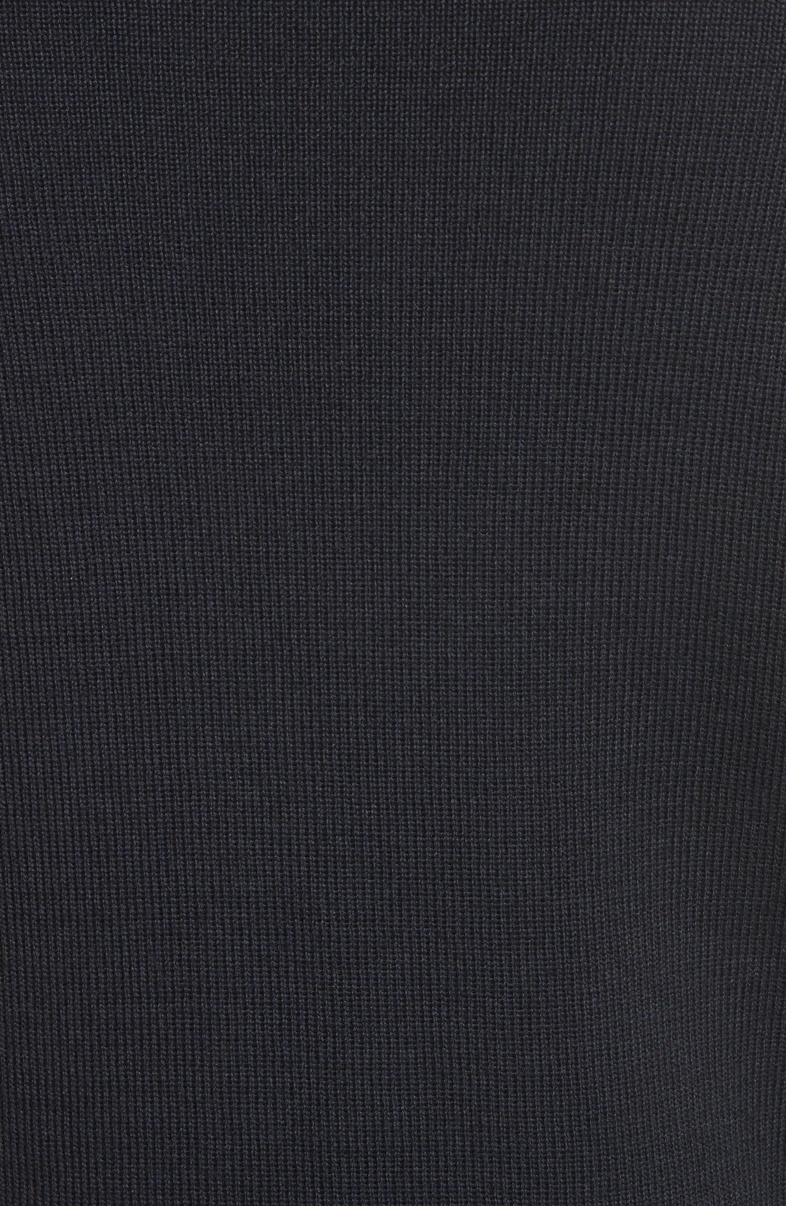 Men's Water Repellent Crewneck Sweater,                             Alternate thumbnail 5, color,                             Navy