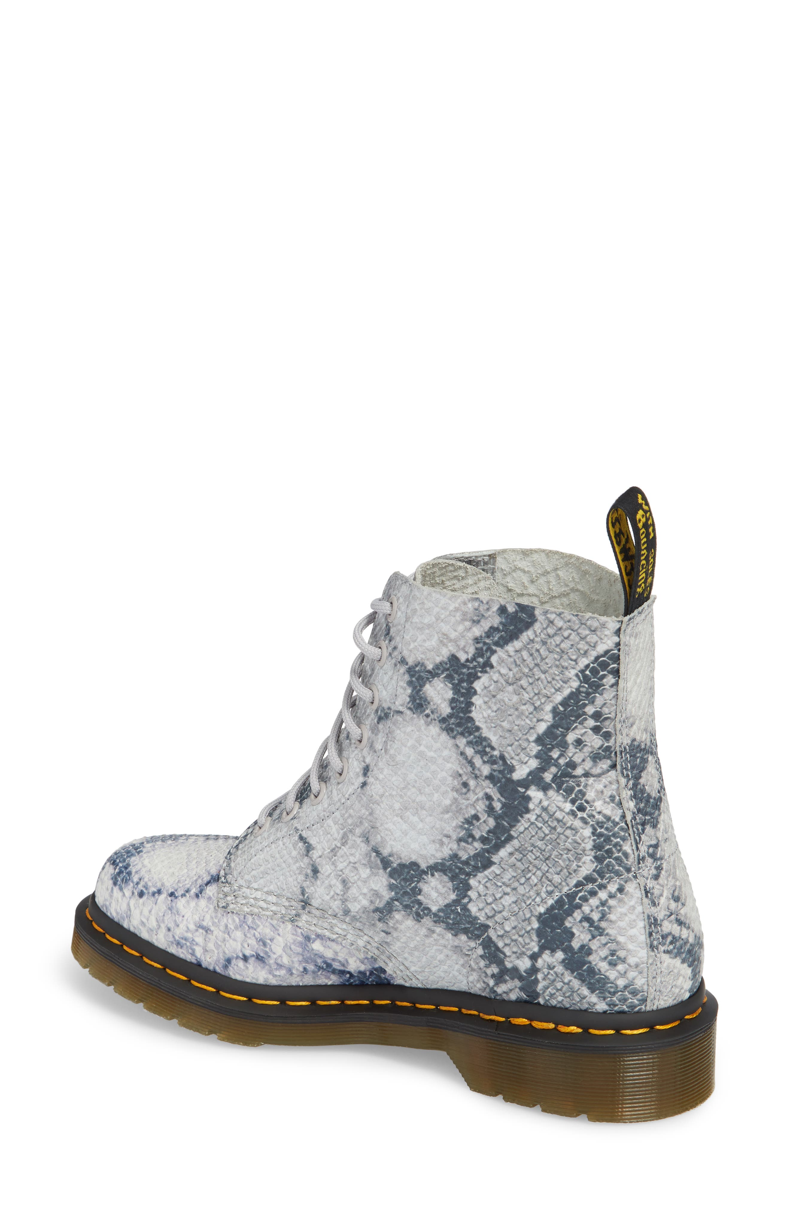 Pascal Snake Boot,                             Alternate thumbnail 2, color,                             Light Grey Leather