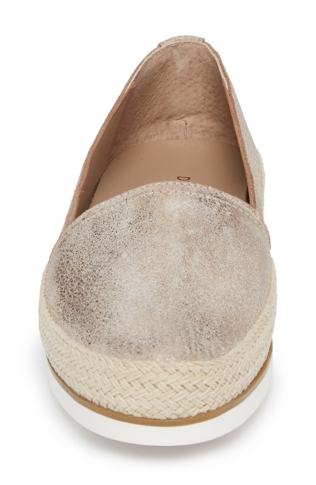 Palm Slip-On Sneaker,                             Alternate thumbnail 4, color,                             Taupe Fabric