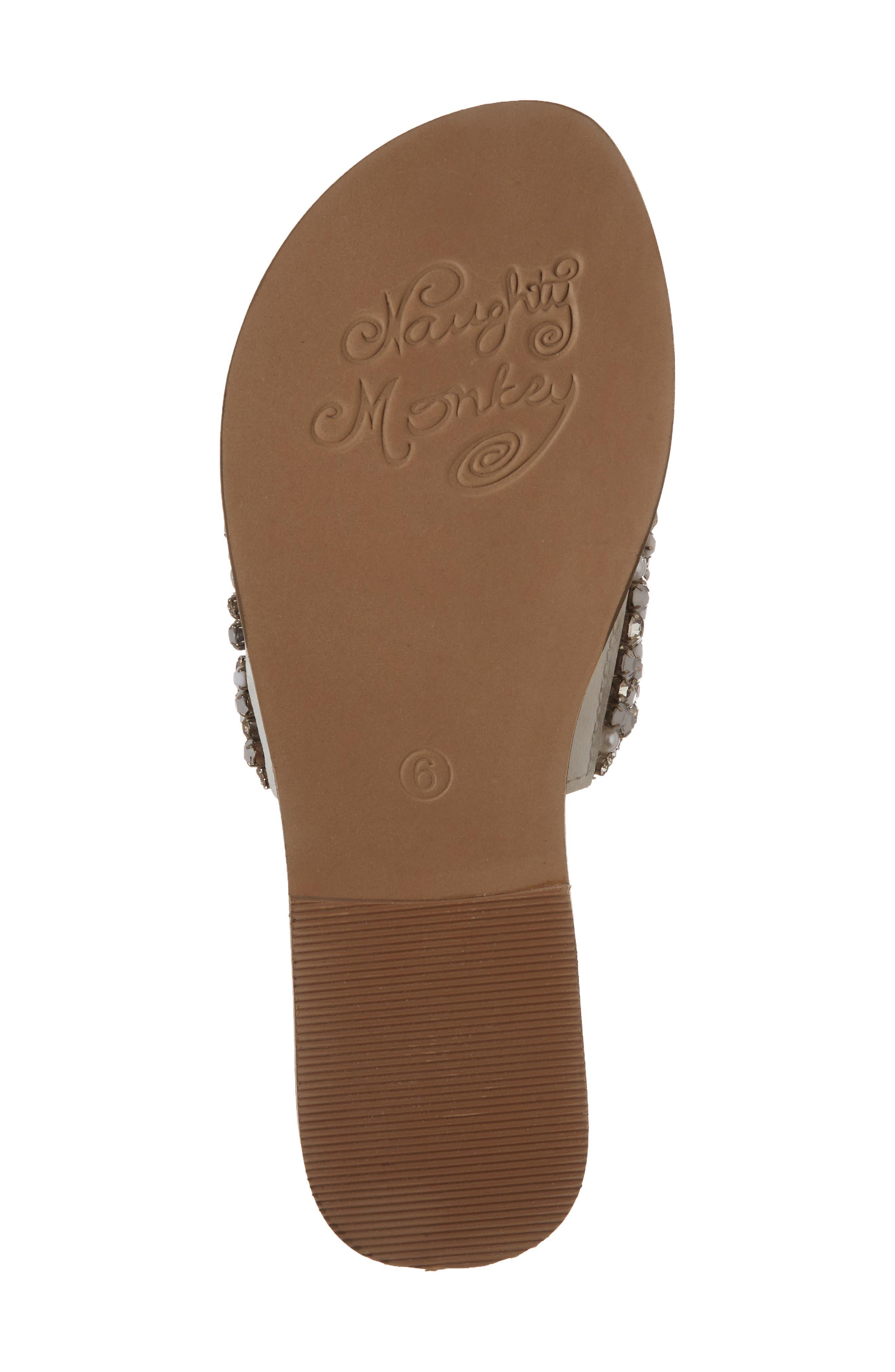 Alternate Image 6  - Naughty Monkey Susanna Embellished Slide Sandal (Women)