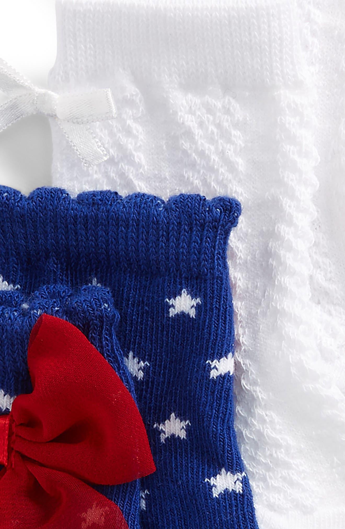 Alternate Image 2  - Trumpette Jackie 4-Pack Socks (Baby Girls)