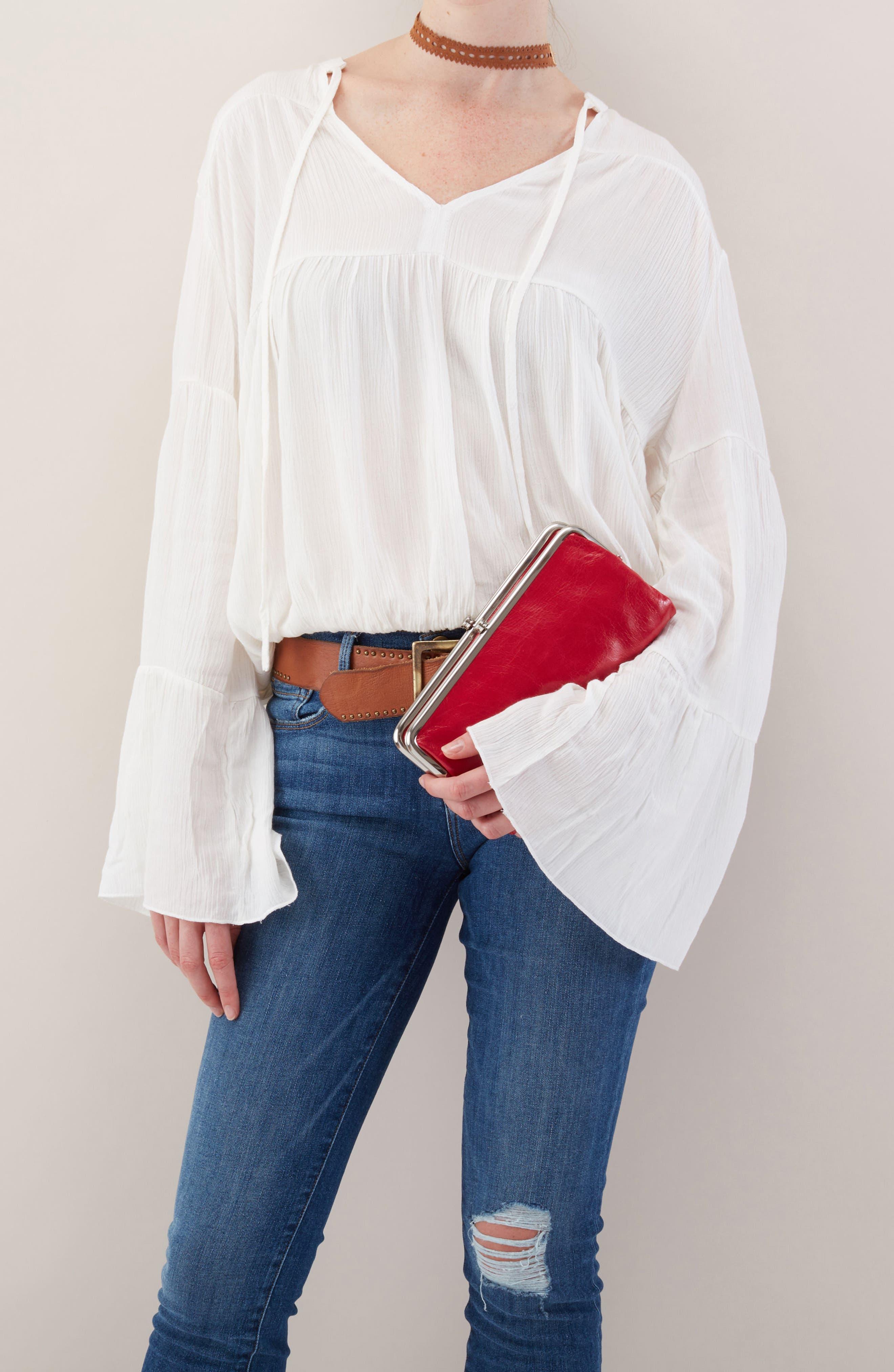 Alternate Image 3  - Hobo 'Lauren' Leather Double Frame Clutch