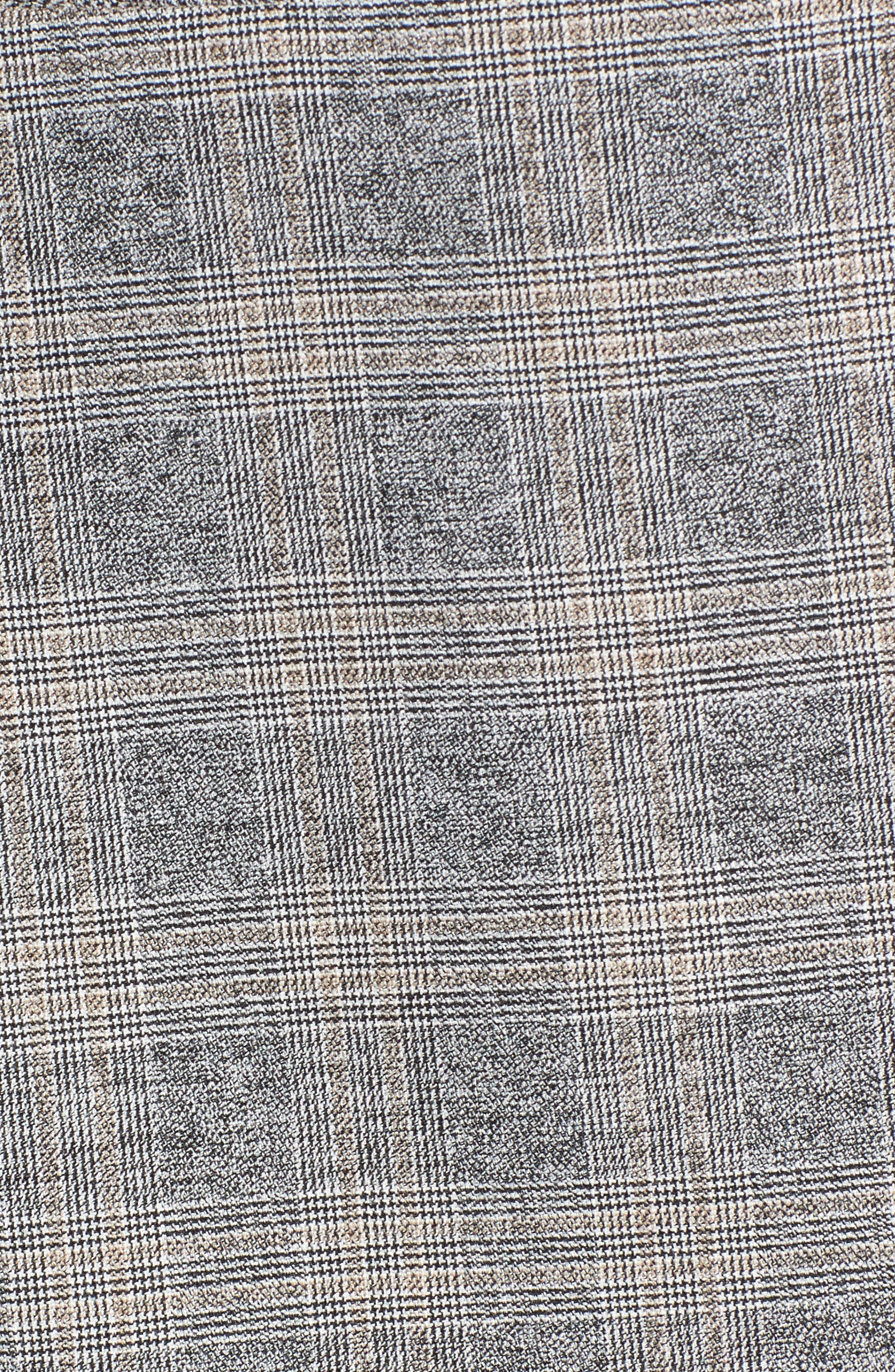 Check Plaid Suit Jacket,                             Alternate thumbnail 5, color,                             Grey Check