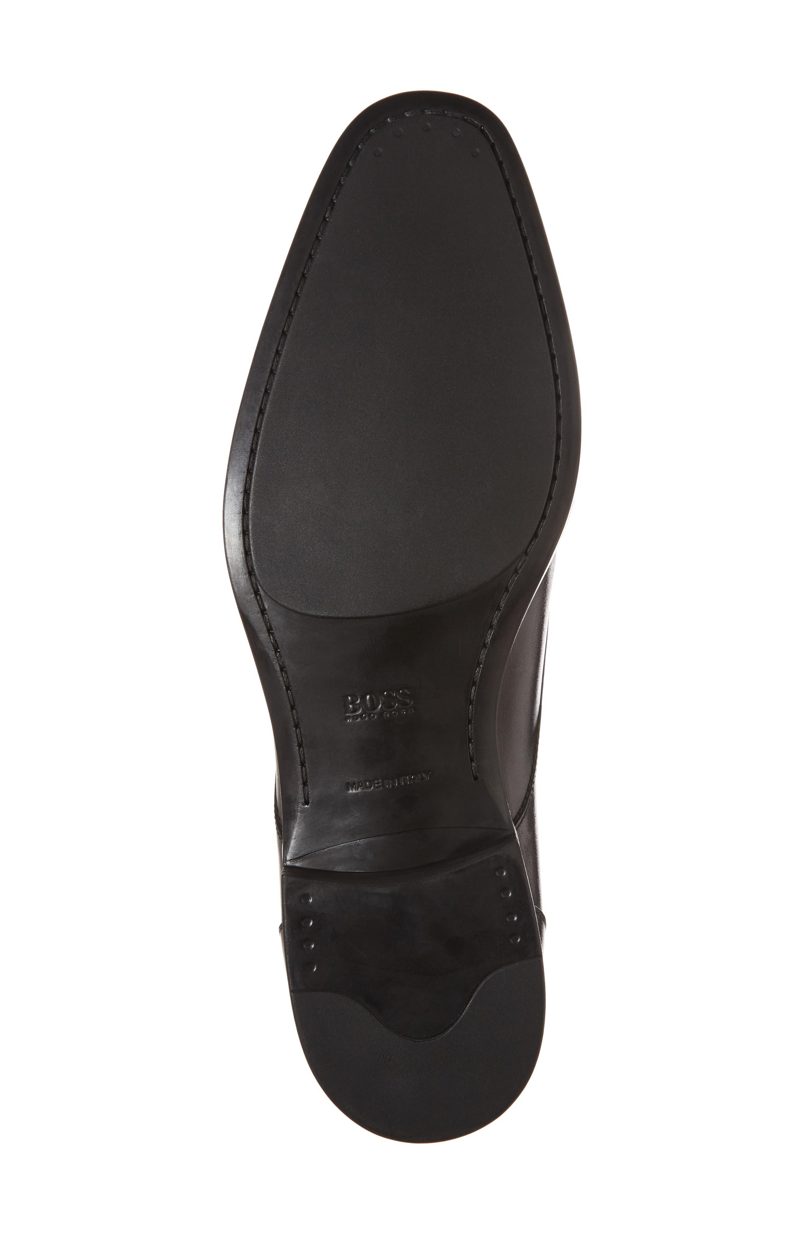 Portland Plain Toe Derby,                             Alternate thumbnail 6, color,                             Black Leather