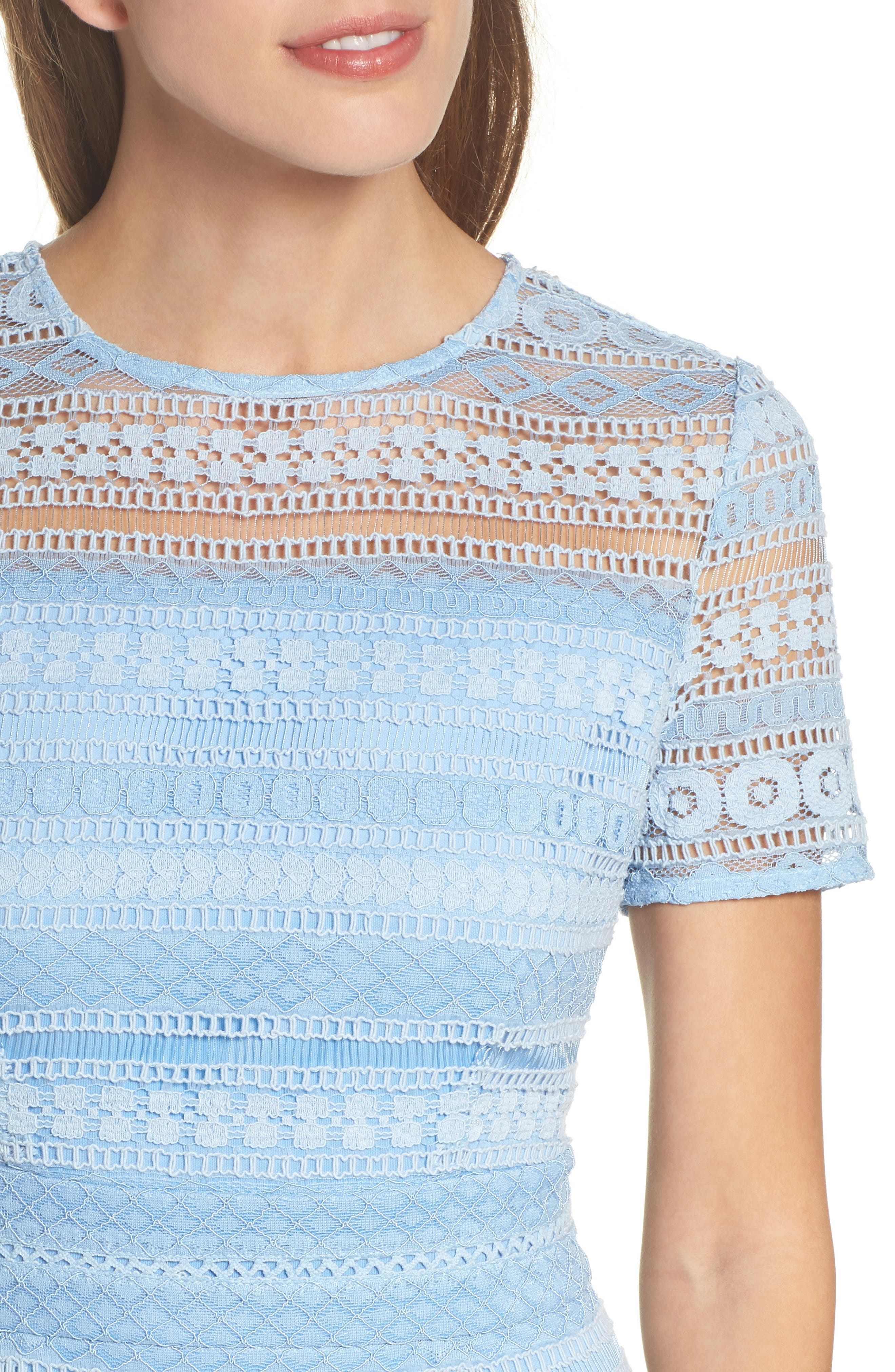 Lace Dress,                             Alternate thumbnail 4, color,                             Blue French
