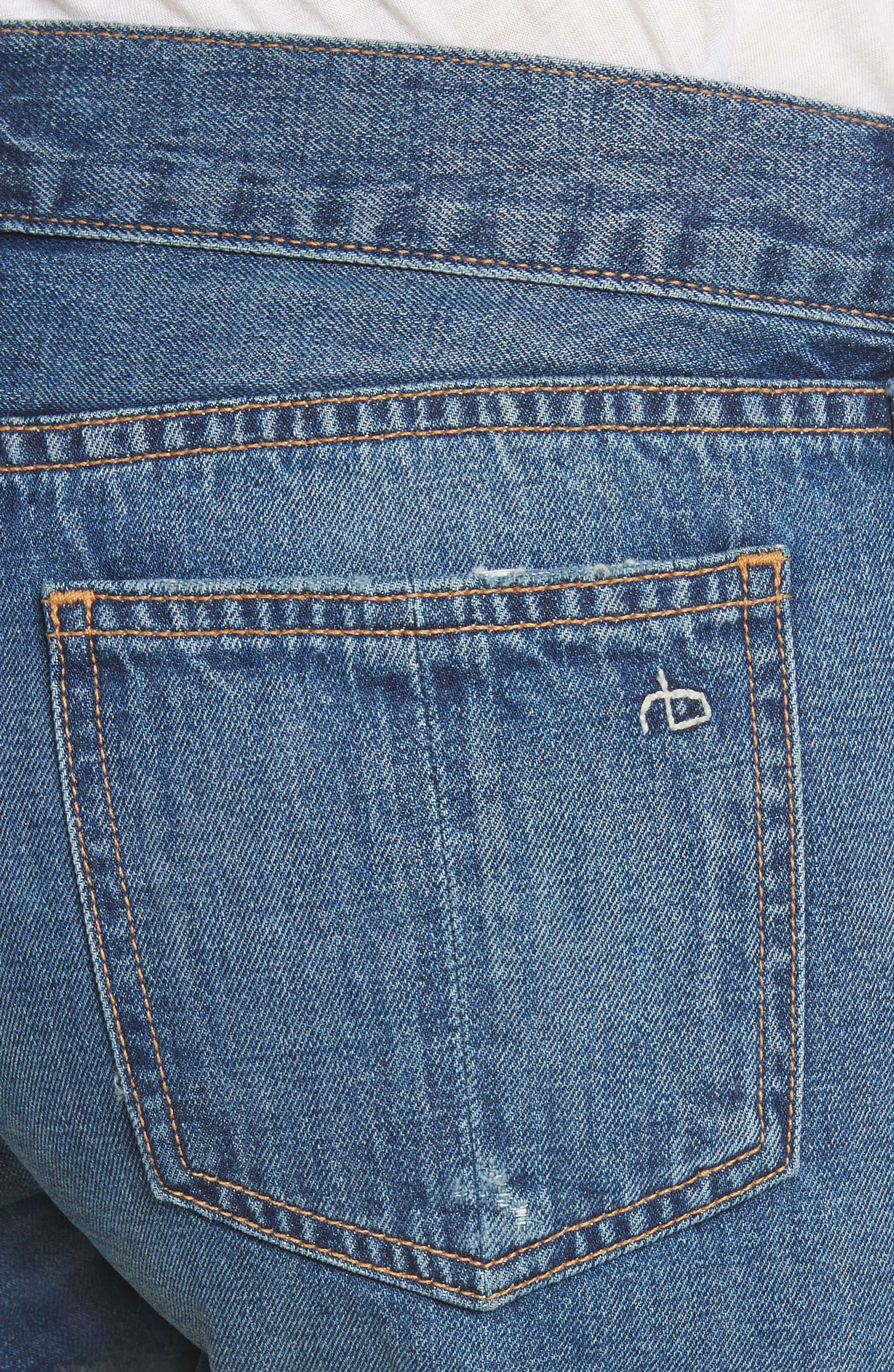 Cutoff Denim Shorts,                             Alternate thumbnail 4, color,                             Johnny