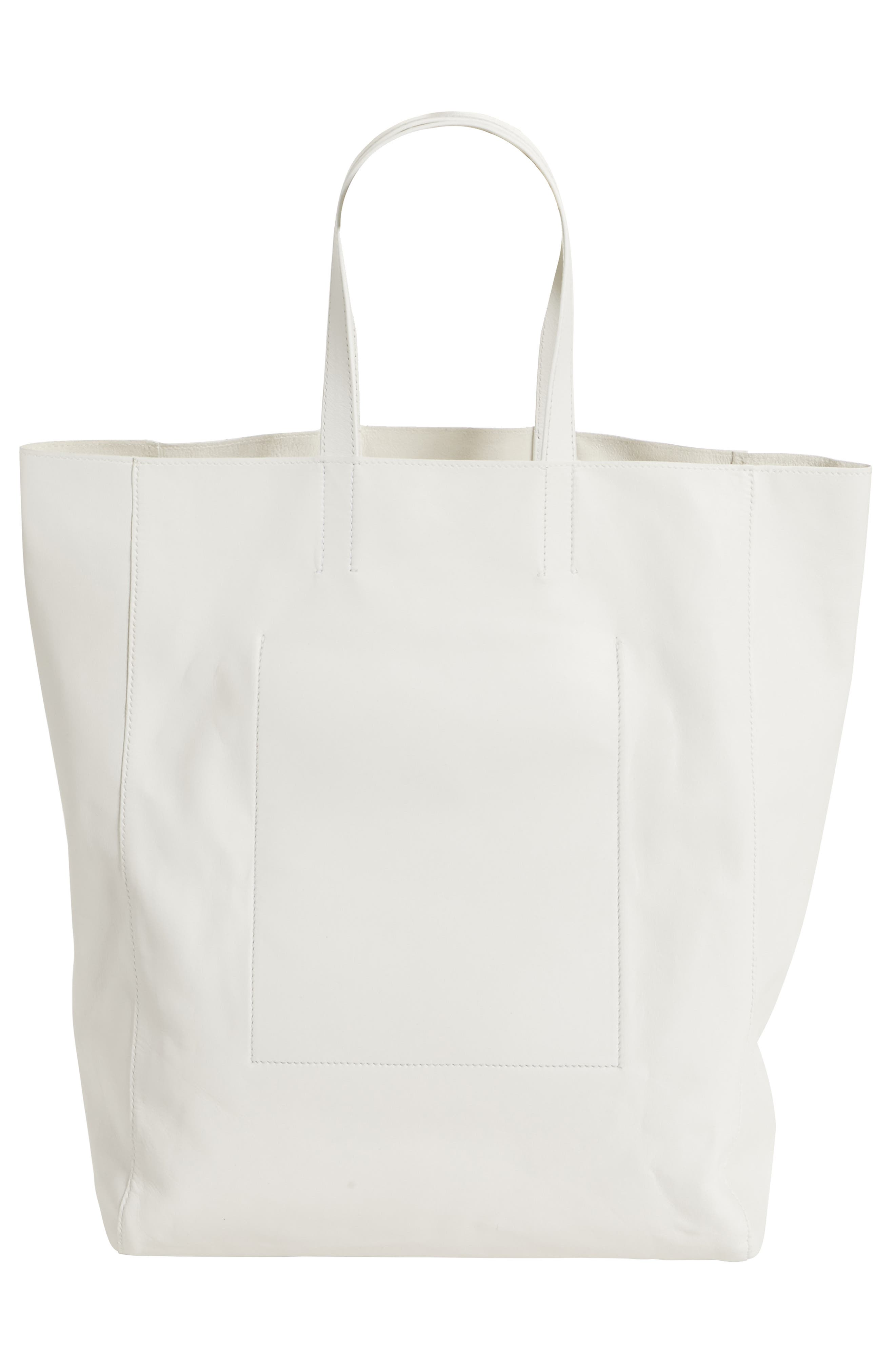 x Andy Warhol Foundation Boots Leather Tote,                             Alternate thumbnail 3, color,                             White/ Black