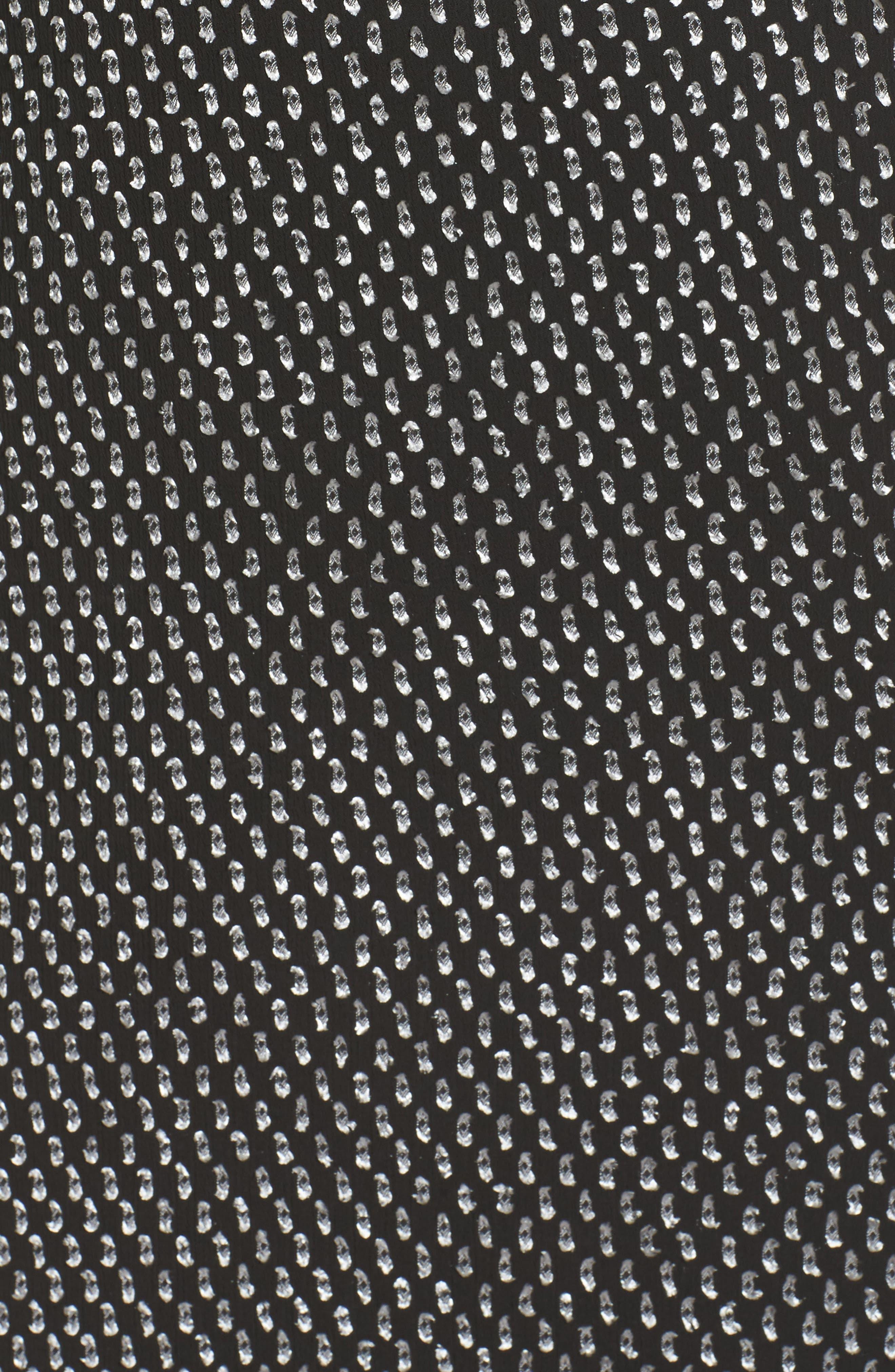 Resys at Felix Shift Dress,                             Alternate thumbnail 6, color,                             Black/ White Dot
