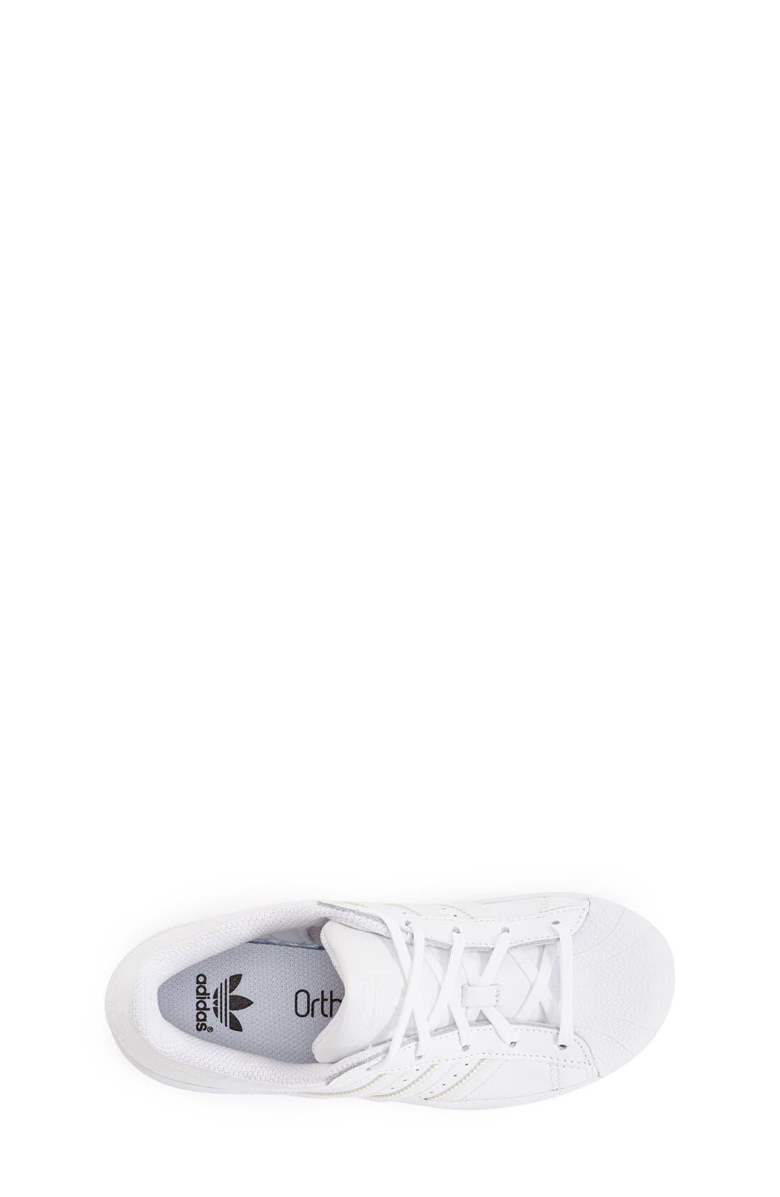 Alternate Image 3  - adidas 'Superstar' Sneaker (Toddler & Little Kid)