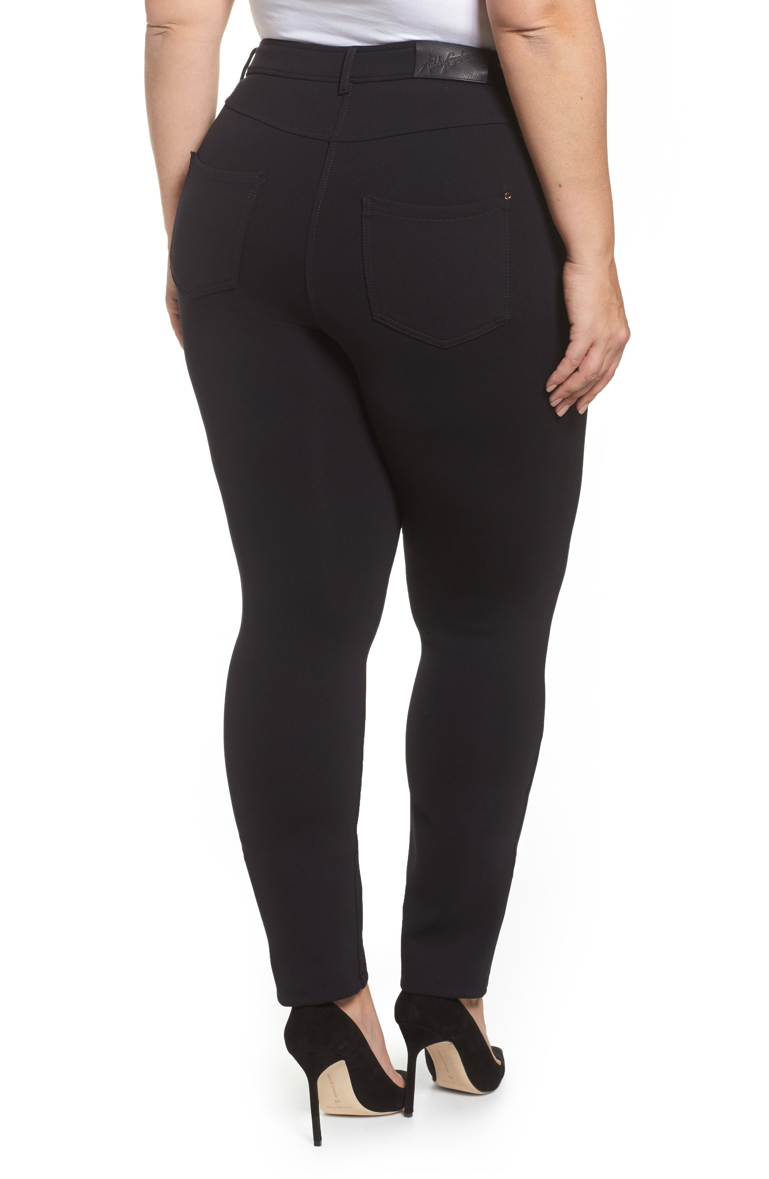 Odalisca Jersey Pants,                             Alternate thumbnail 2, color,                             Black