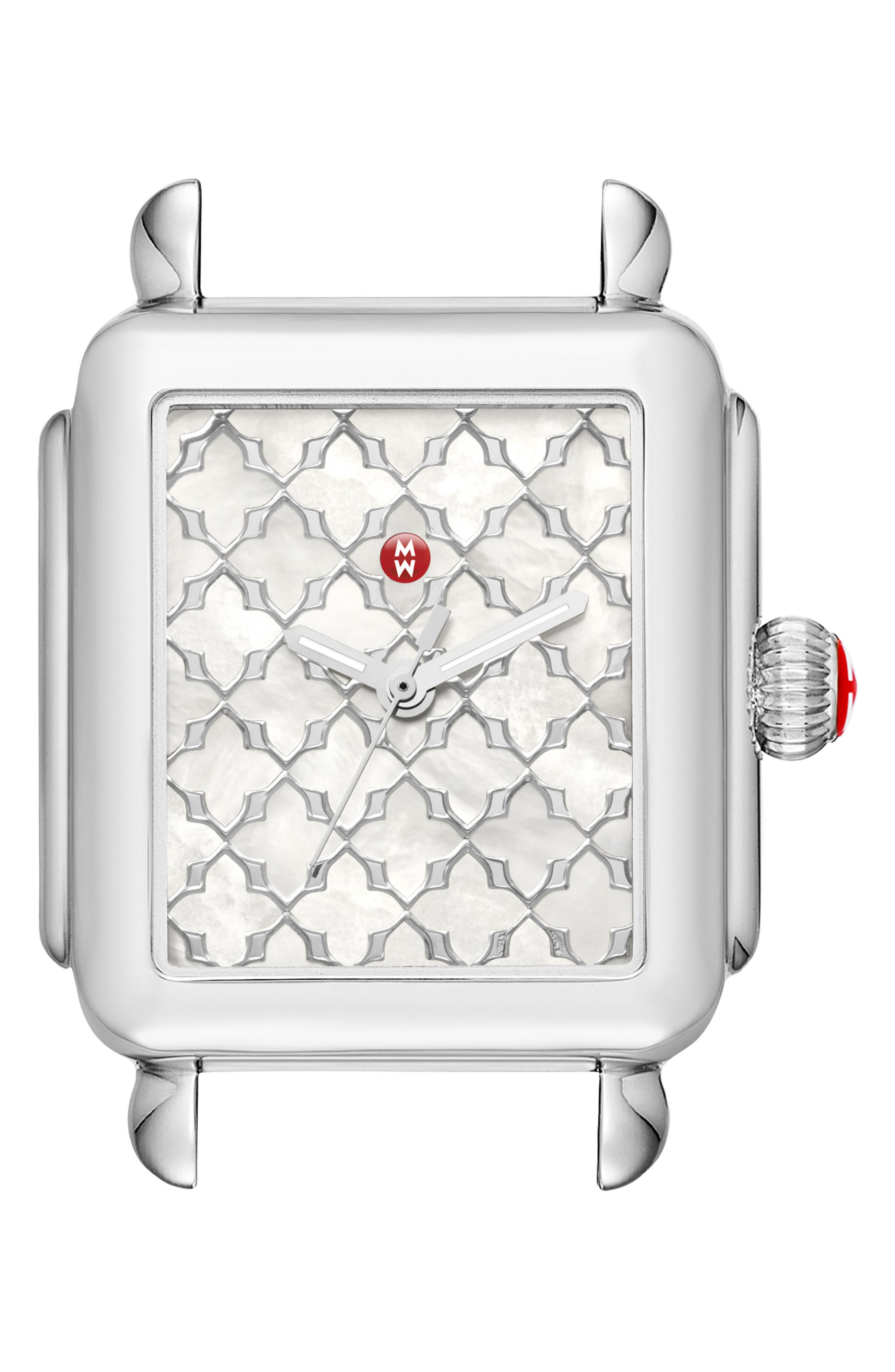 MICHELE Deco Mosaic Square Watch Head, 33mm x 35mm