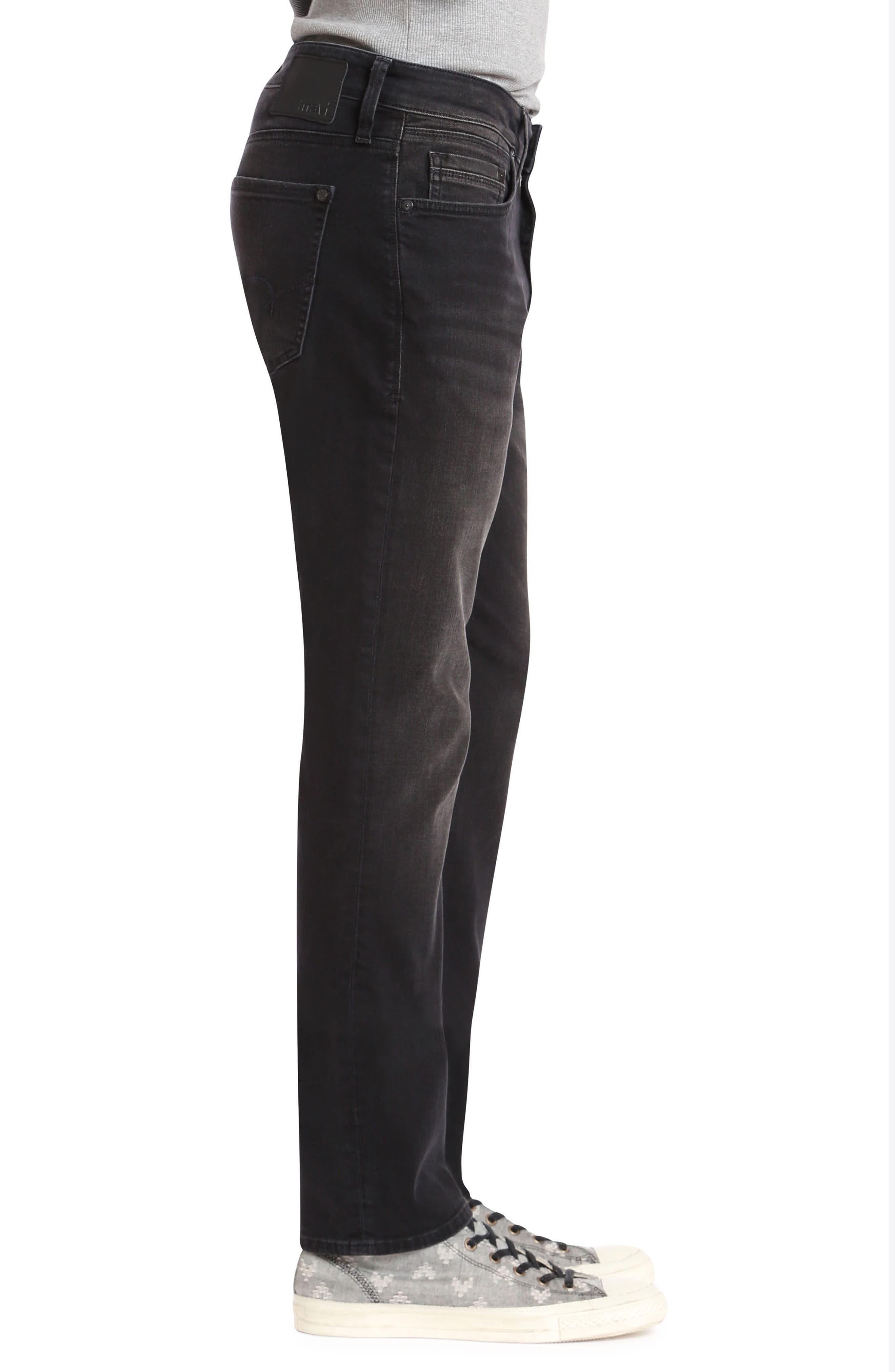Marcus Slim Straight Leg Jeans,                             Alternate thumbnail 3, color,                             Dark Smoke Williamsburg