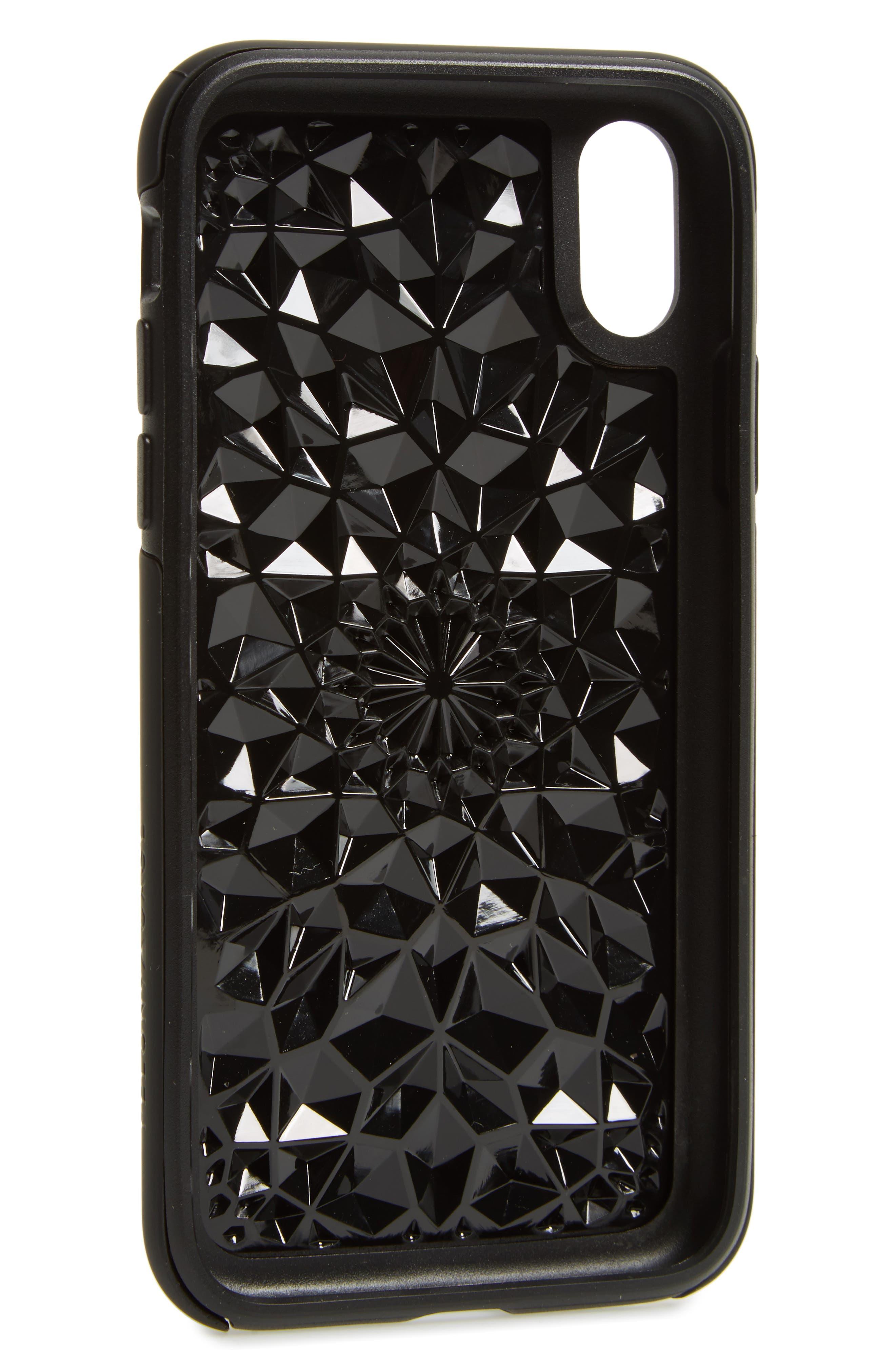Matte Kaleidoscope iPhone X Case,                             Alternate thumbnail 2, color,                             Black