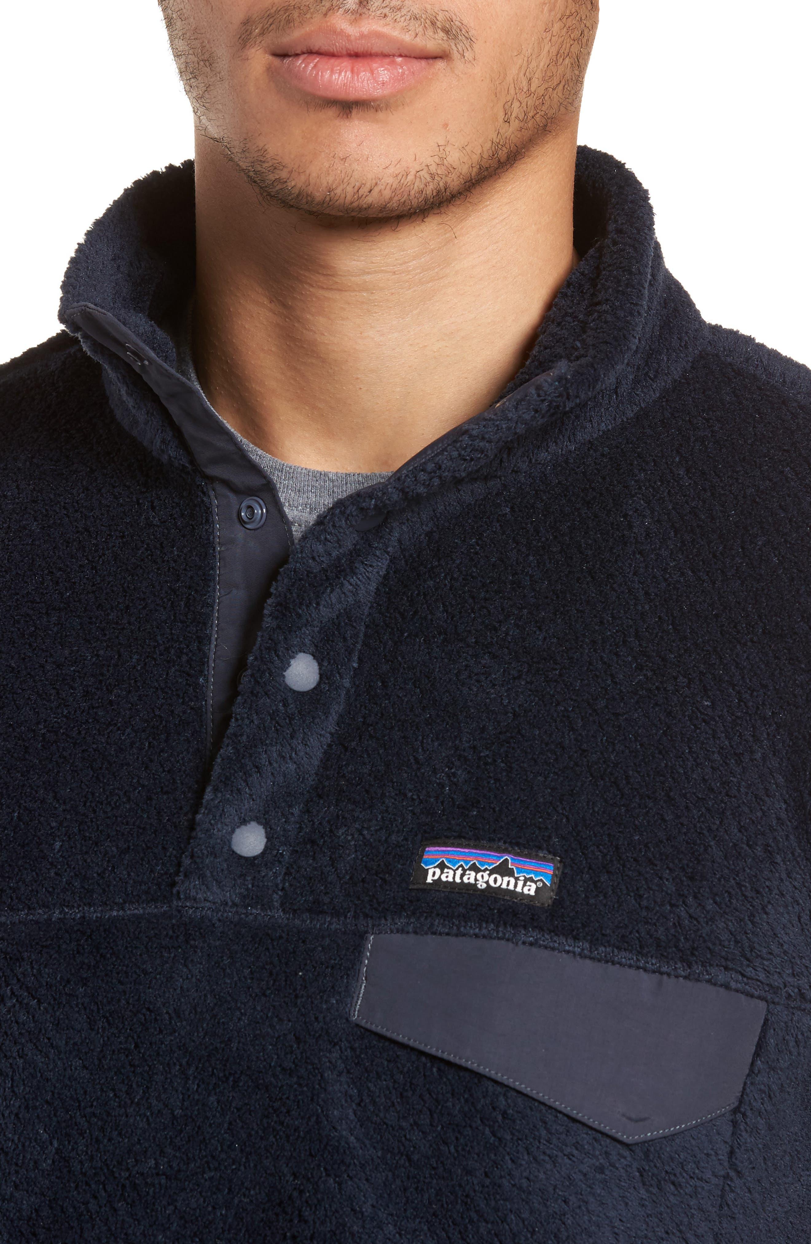 Re-Tool Snap-T<sup>®</sup> Pullover,                             Alternate thumbnail 4, color,                             Navy Blue X-Dye