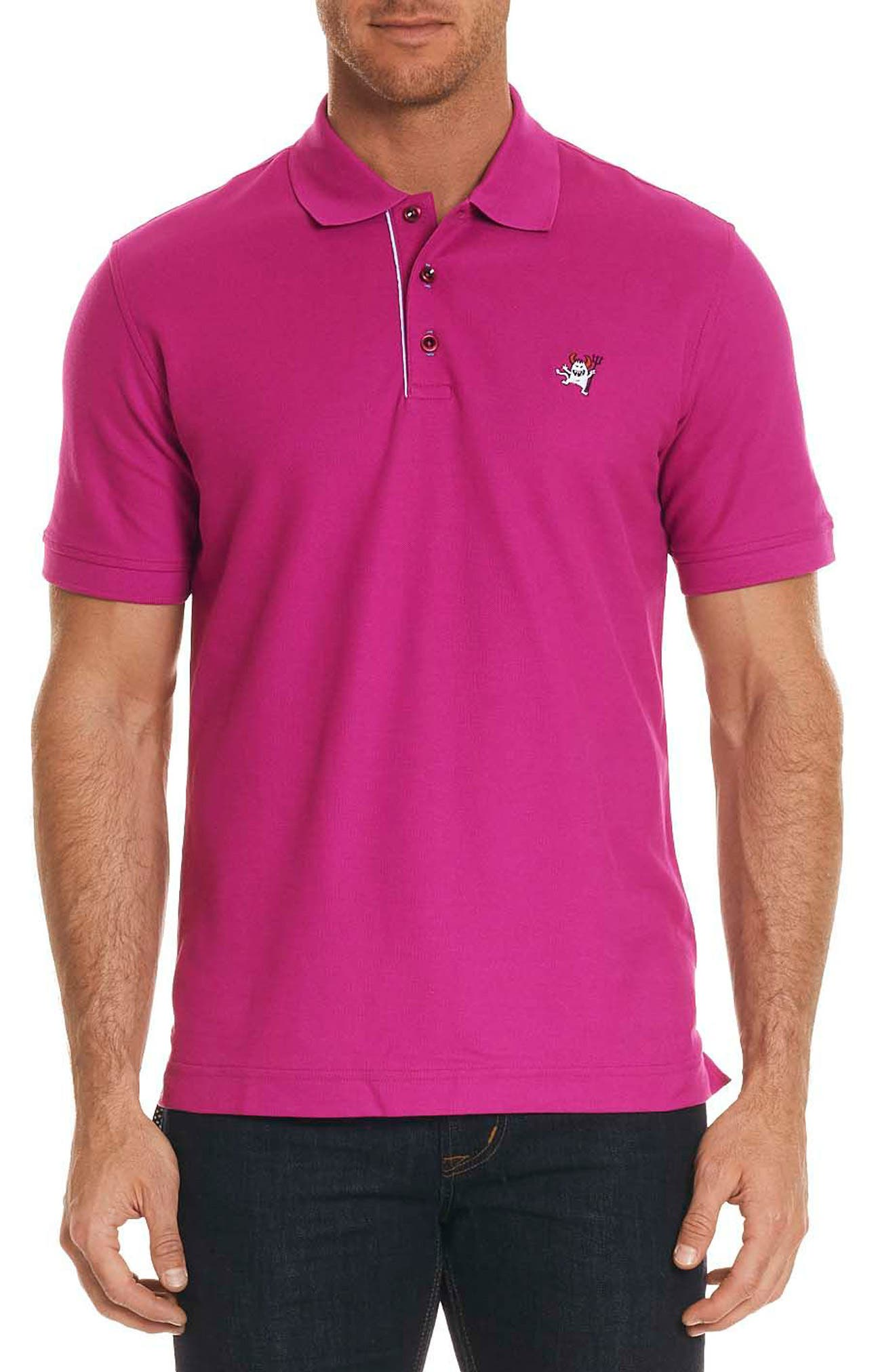 Robert Graham Devil Piqué Polo