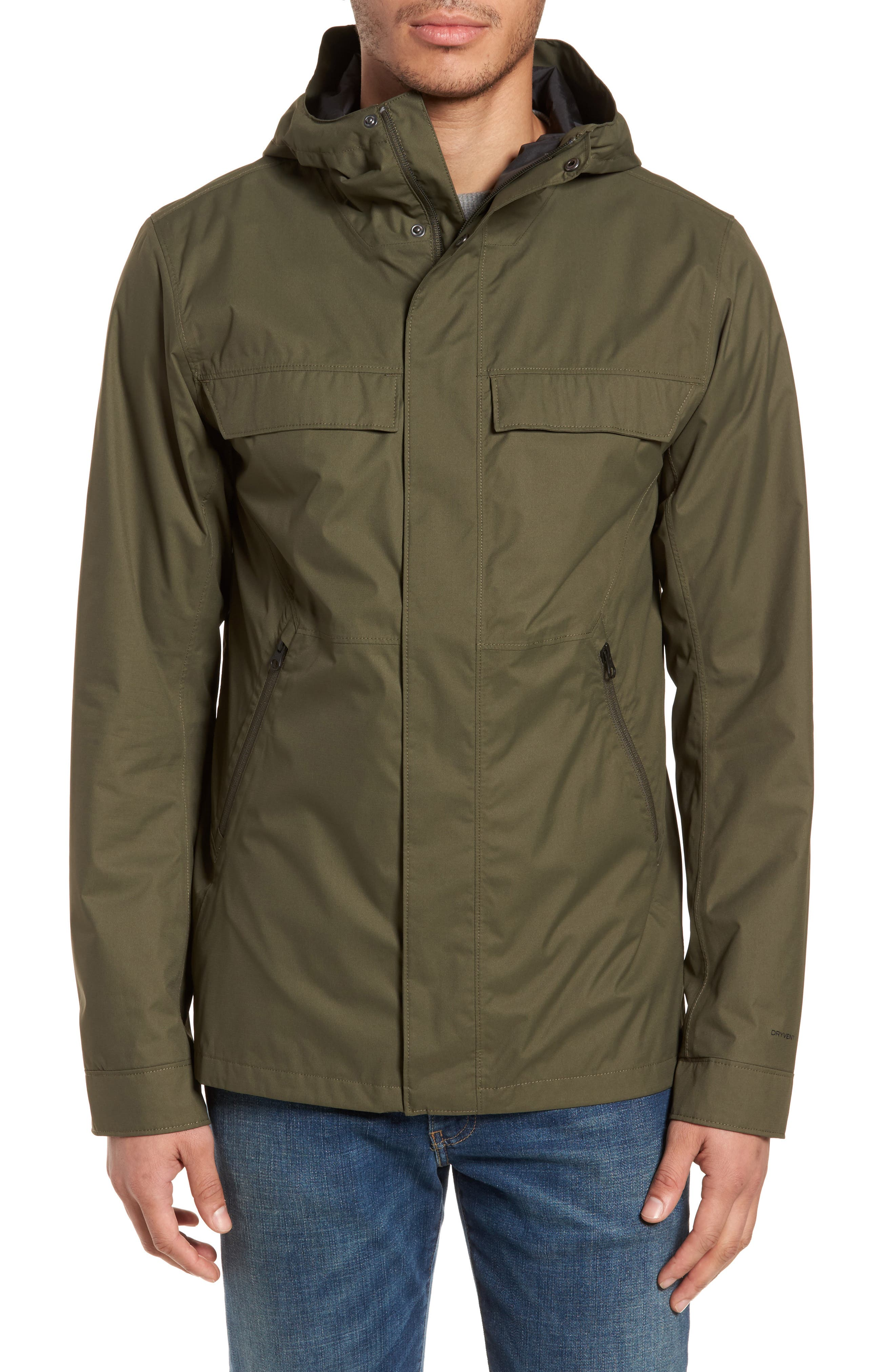 Jenison II Insulated Waterproof Jacket,                             Alternate thumbnail 4, color,                             New Taupe Green