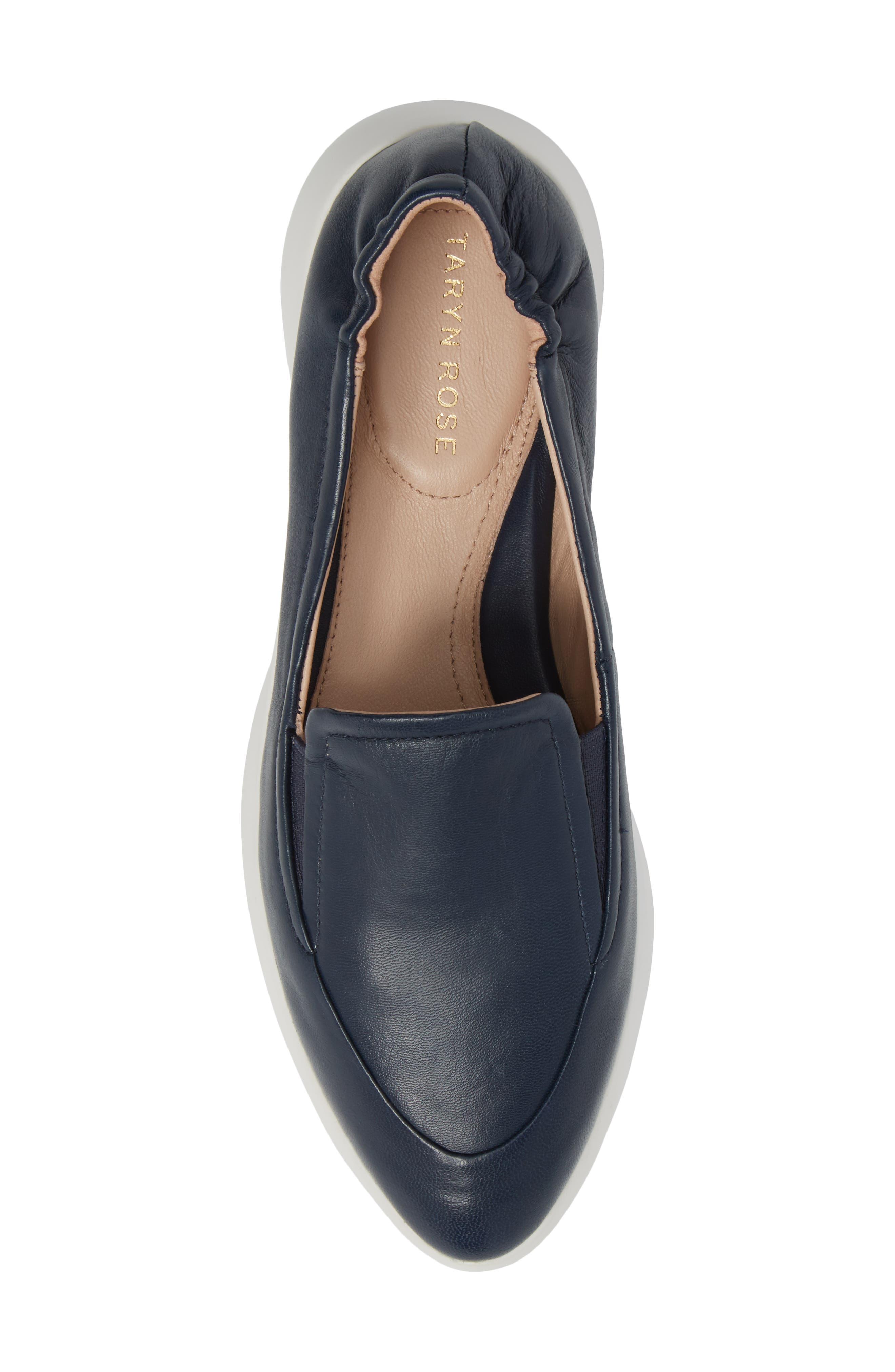 Dana Loafer Sneaker,                             Alternate thumbnail 5, color,                             Navy Leather