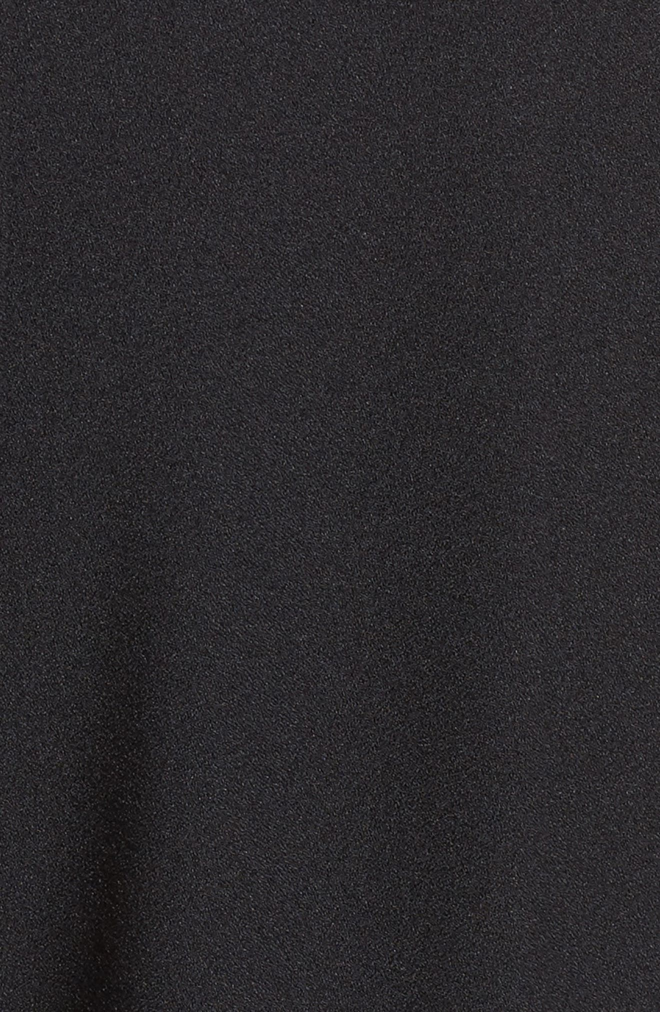 Ruffle Jumpsuit,                             Alternate thumbnail 5, color,                             Black