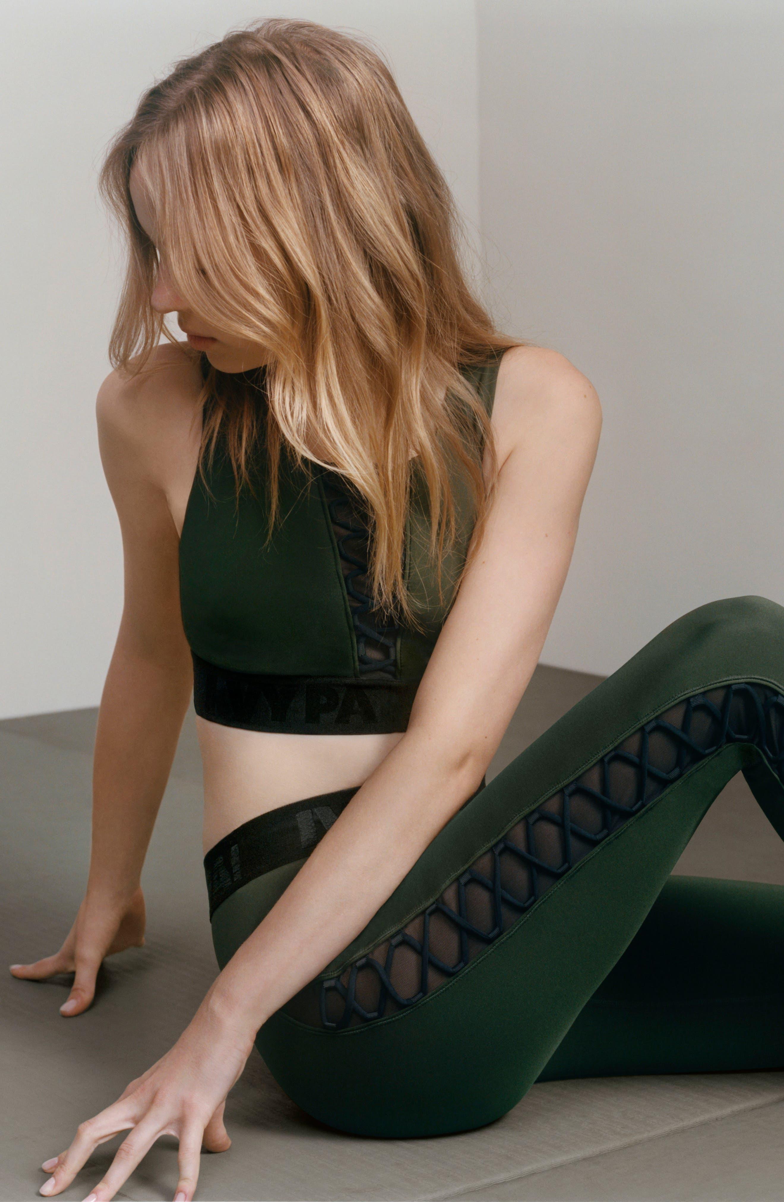 Alternate Image 2  - Ivy Park® Mesh Lace-Up Leggings