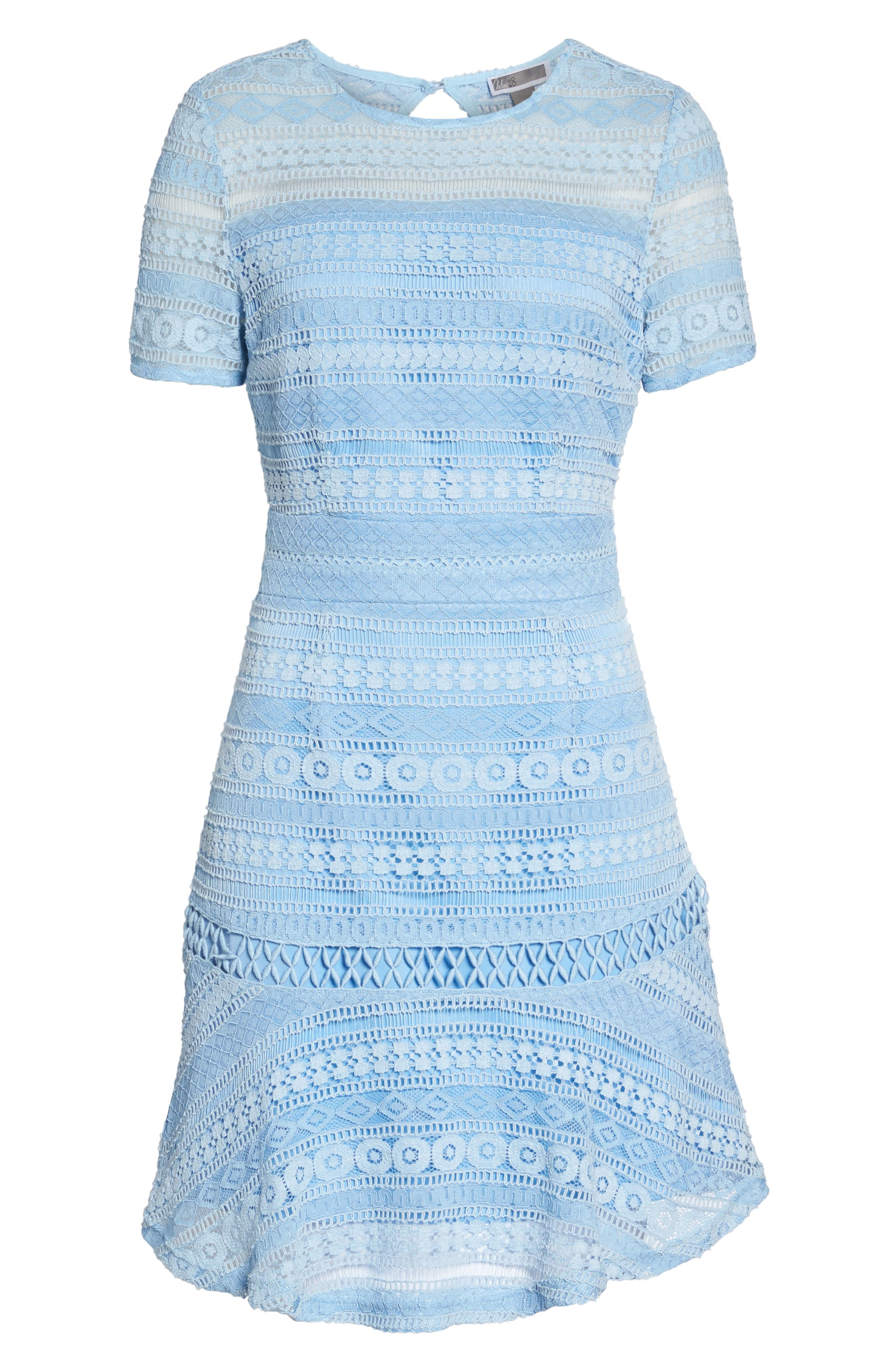Lace Dress,                             Alternate thumbnail 6, color,                             Blue French