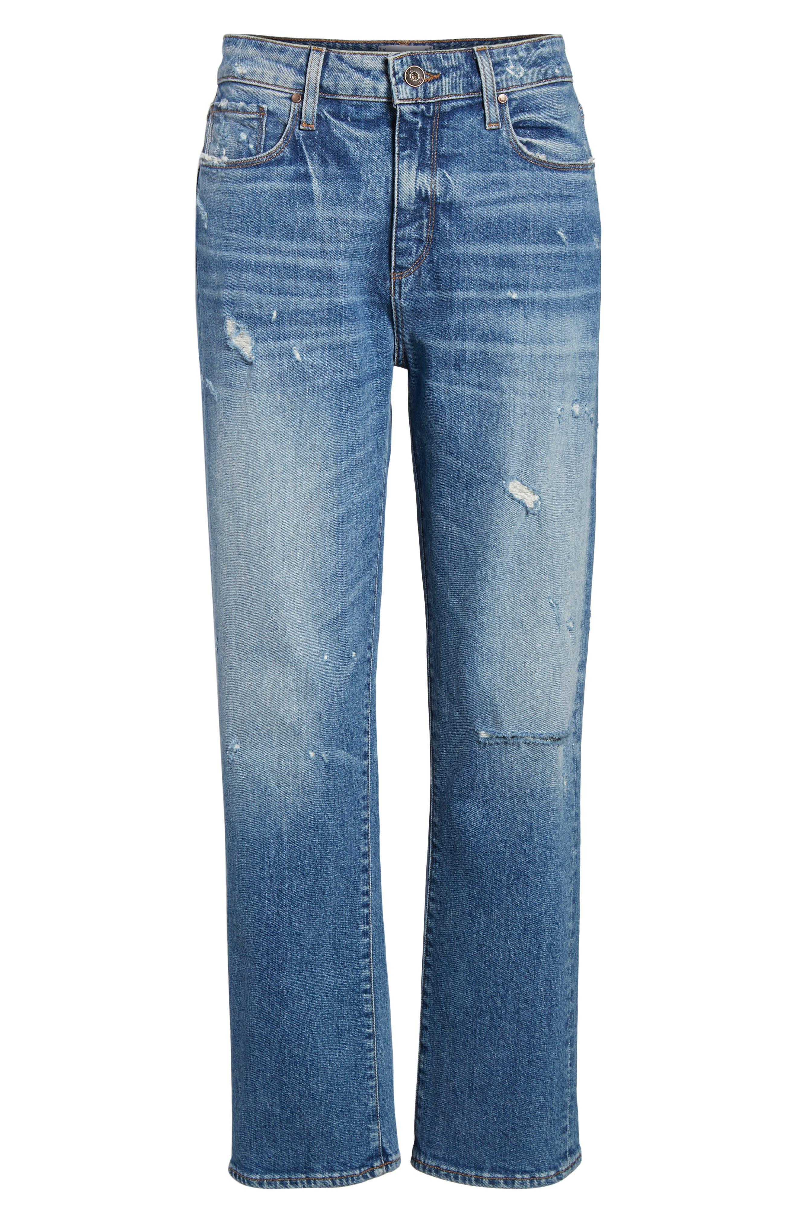 Transcend Vintage - Noella Straight Leg Jeans,                             Alternate thumbnail 8, color,                             Iola